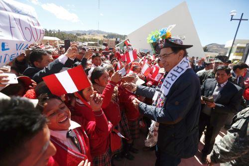 El presidente Vizcarra participa en la activación de la banda ancha para la conectividad integral y desarrollo social de Huancavelica