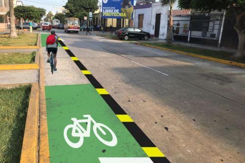Así quedará ciclovía en Magdalena del Mar, informó su alcalde. Foto: Cortesía