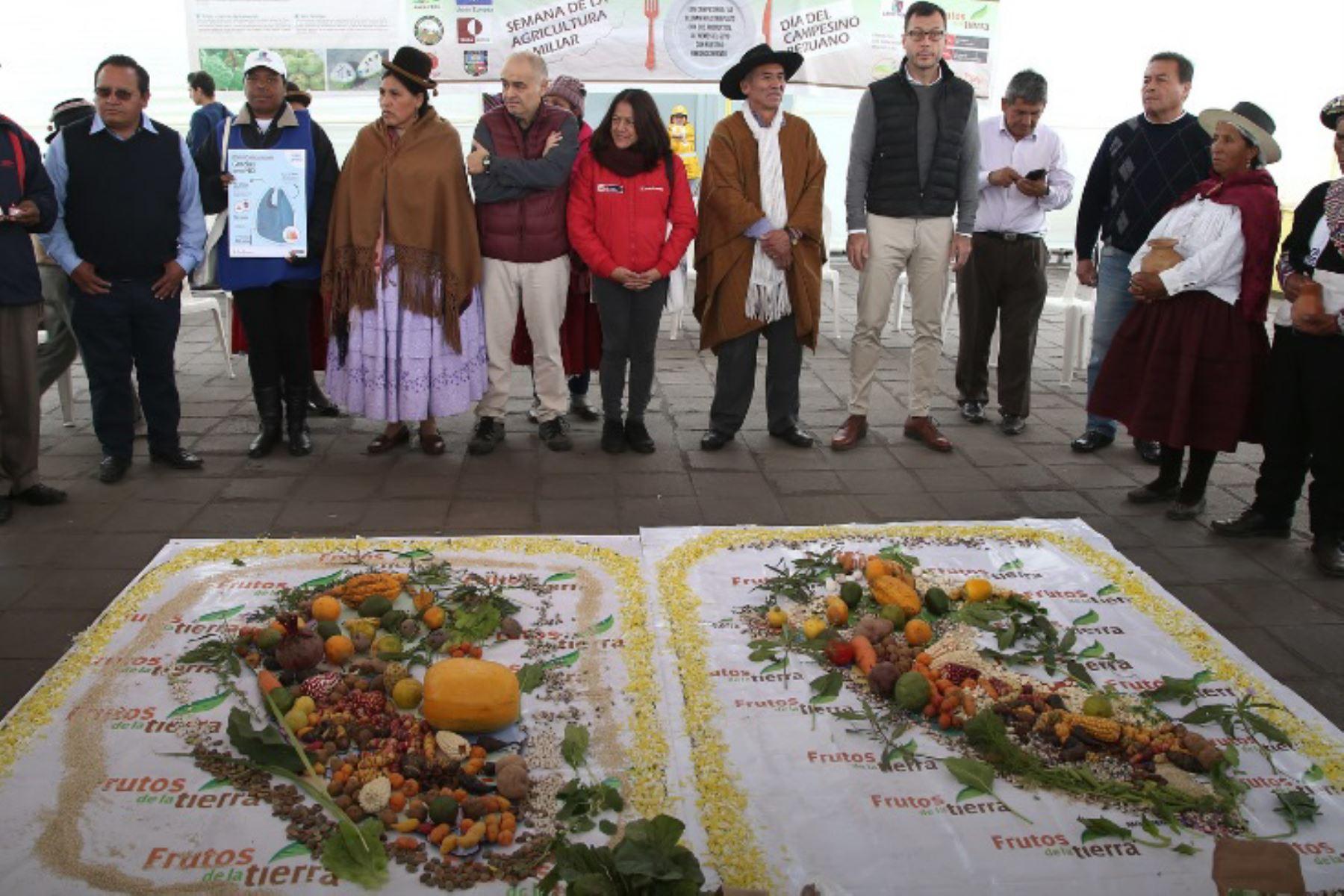 """Las familias agricultoras de pequeña escala fueron reconocidas por el Minam y la Anpe como """"guardianes de la agrobiodiversidad"""", en mérito a su importante labor."""