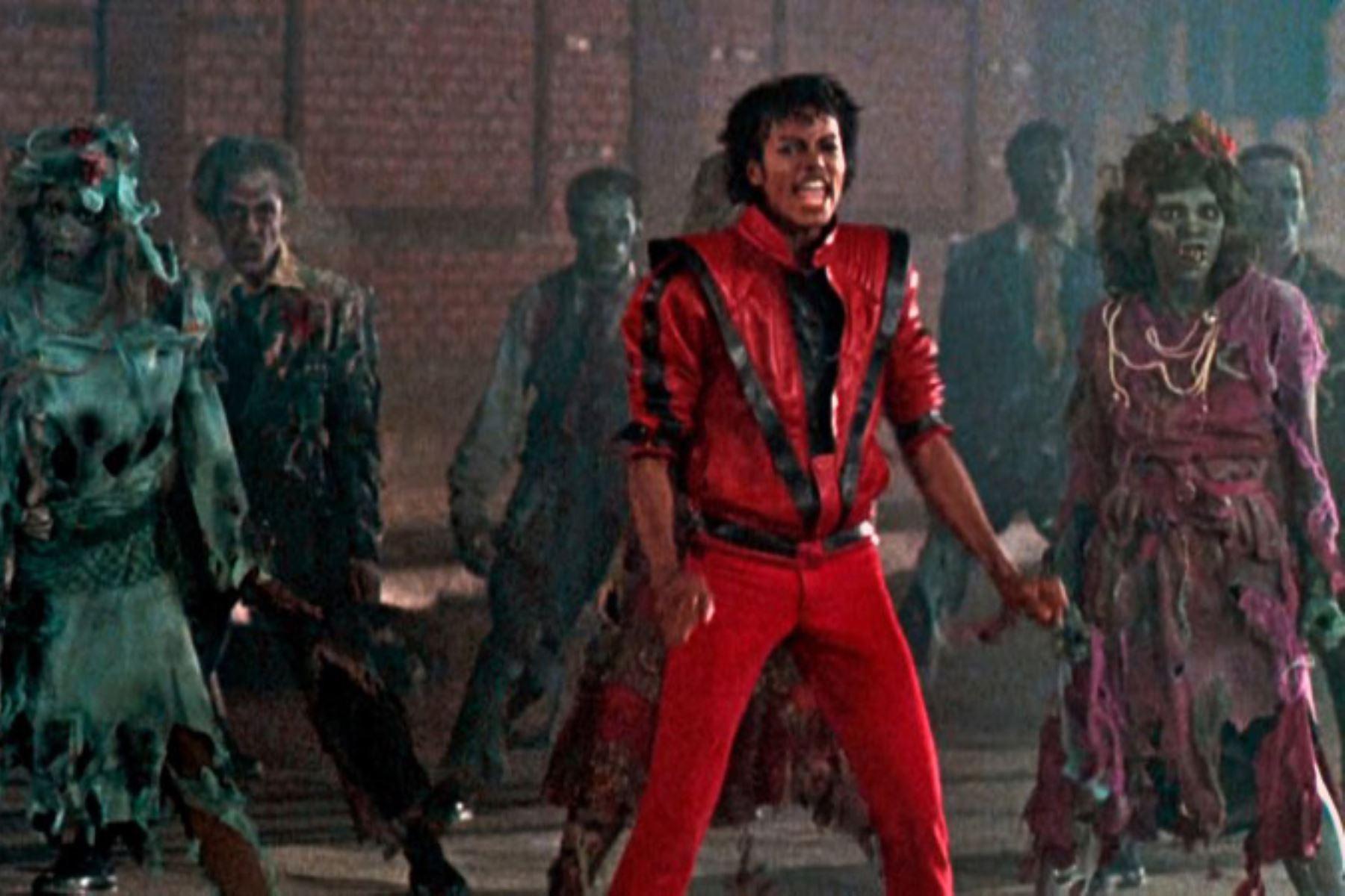 """La estrella del pop estadounidense Michael Jackson en """"Thriller"""". Foto: AFP"""
