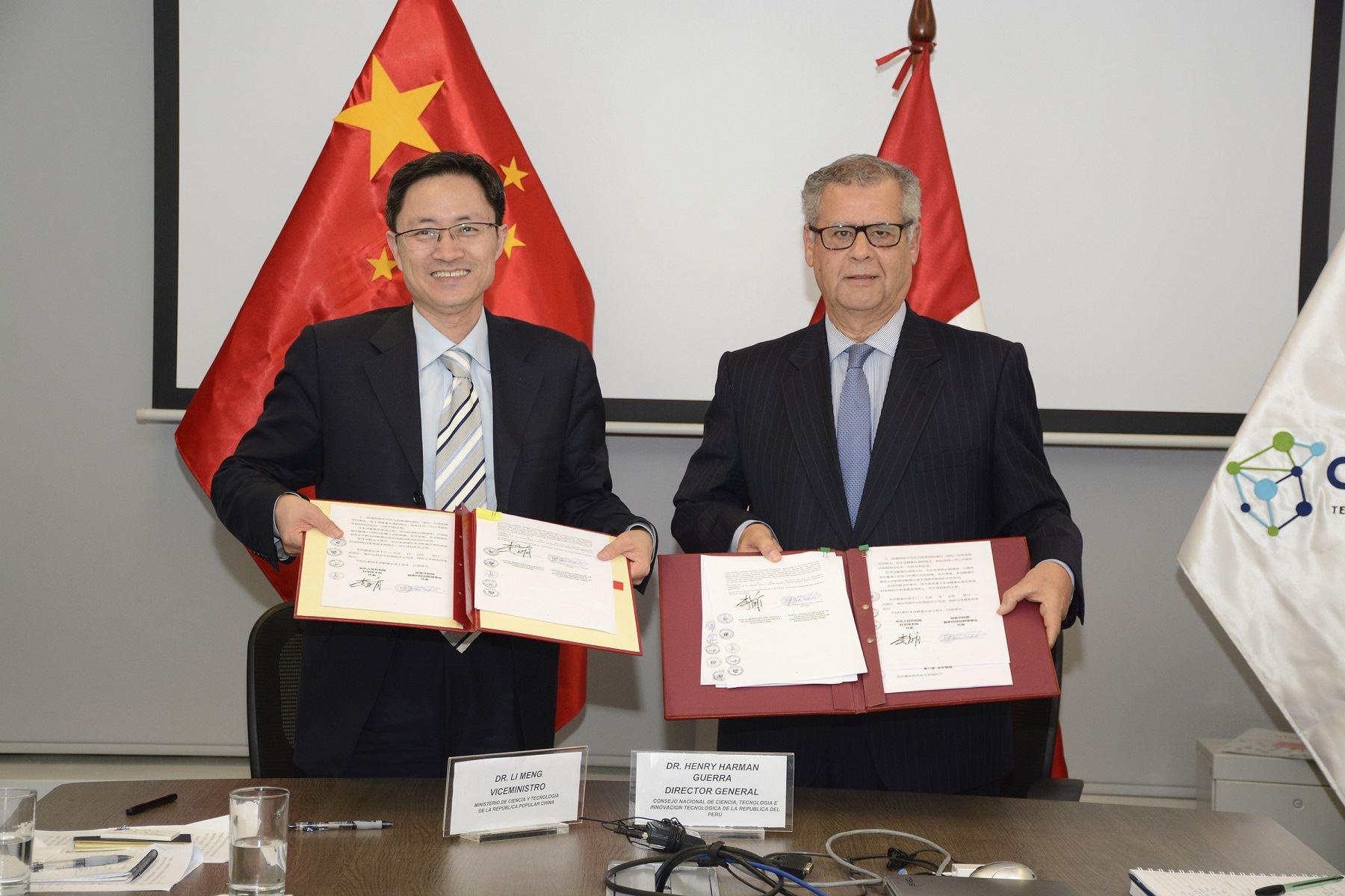 Perú y China acuerdan potenciar ciencia y tecnología Foto: Concytec