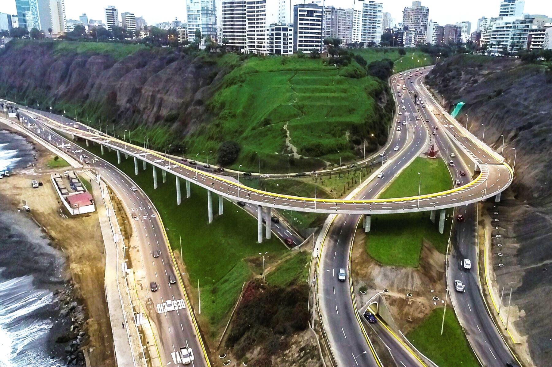 Nuevo viaducto Armendáriz conectará directamente Miraflores y Barranco. Foto: ANDINA/Difusión.