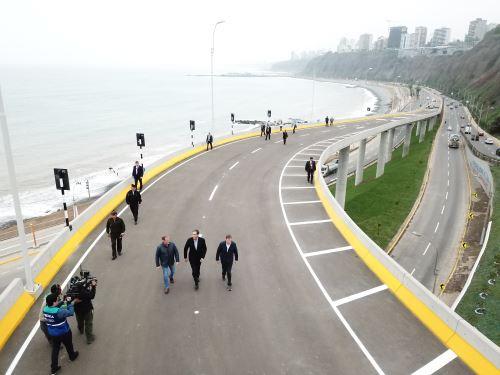 Presidente de la República, Martín Vizcarra, inaugura viaducto Armendáriz