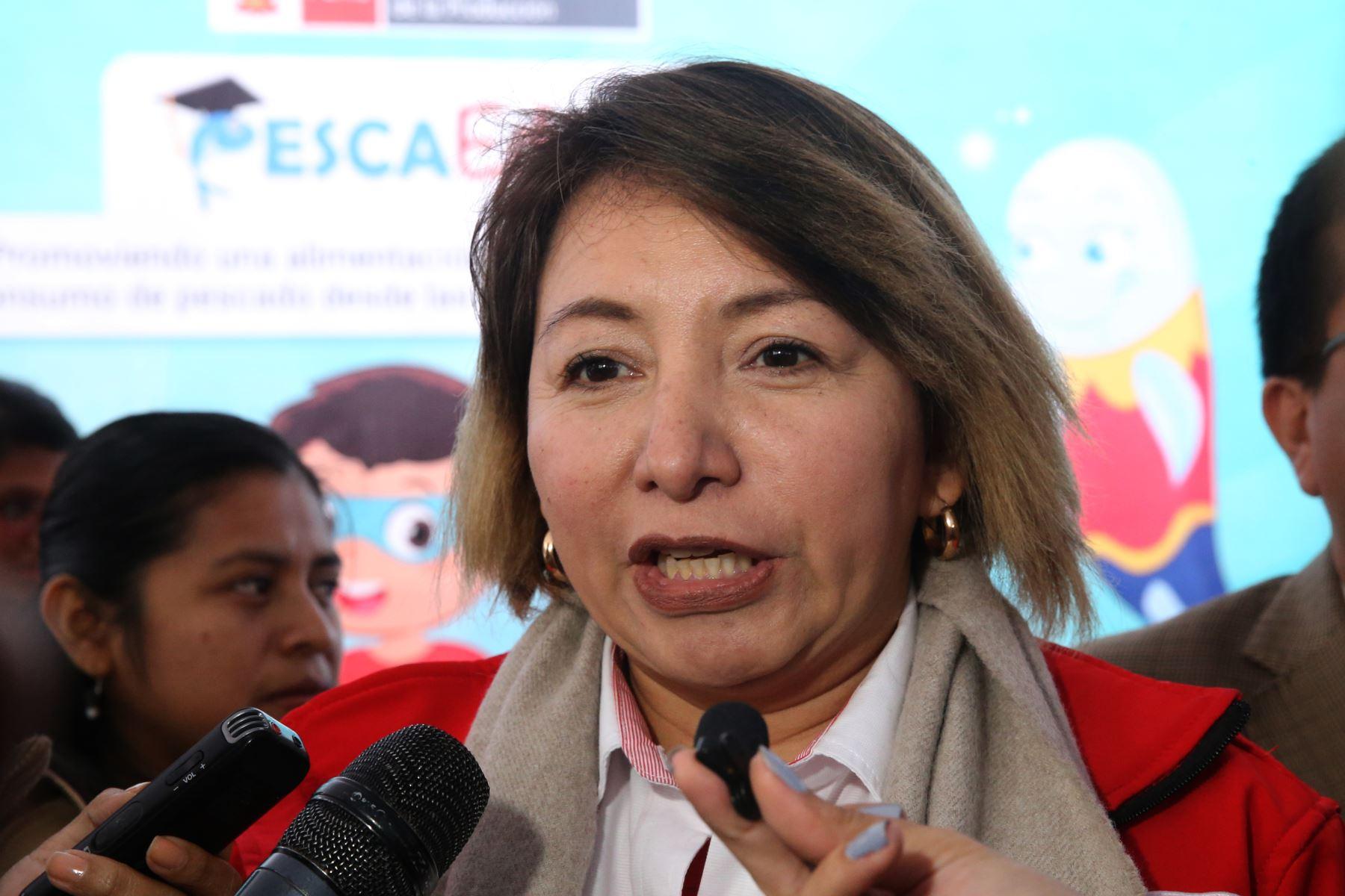Ministra de la Producción, Rocío Barrios. ANDINA/Jhony Laurente