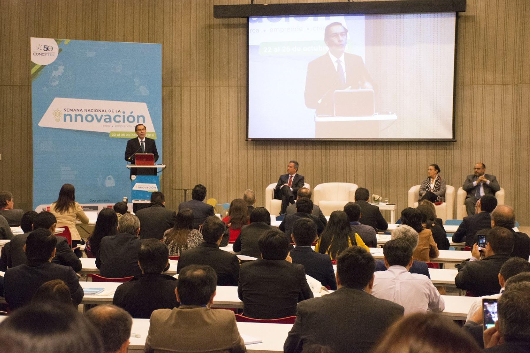 Presidente Martín Vizcarra destaca importancia de la innovación para el desarrollo del país. Foto: Cortesía.