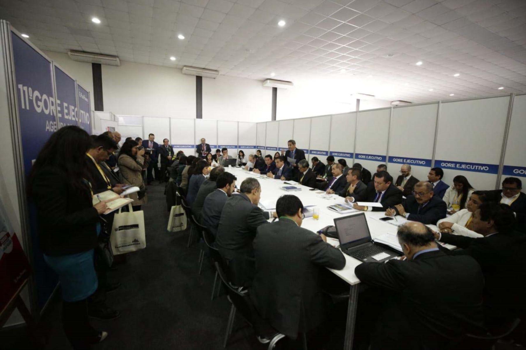 Gobernadores regionales y autoridades del gobierno se reúnen  en el 11º Gore Ejecutivo en la Fortaleza Real Felipe del Callao.  Foto:ANDINA/PCM