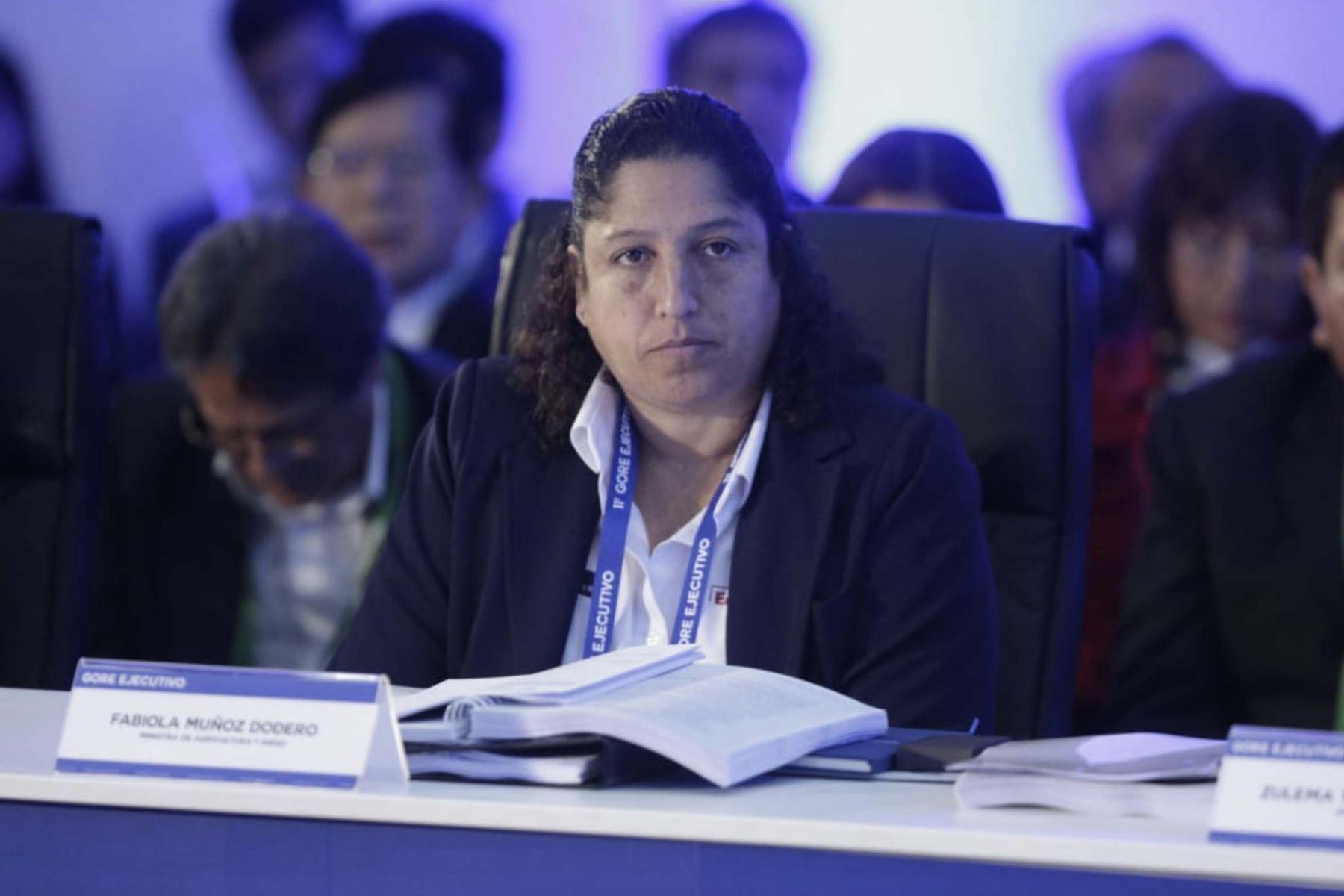 Ministra de Agricultura, Fabiola Muñoz participa  en el 11º Gore Ejecutivo en la Fortaleza Real Felipe del Callao.  Foto:ANDINA/PCM