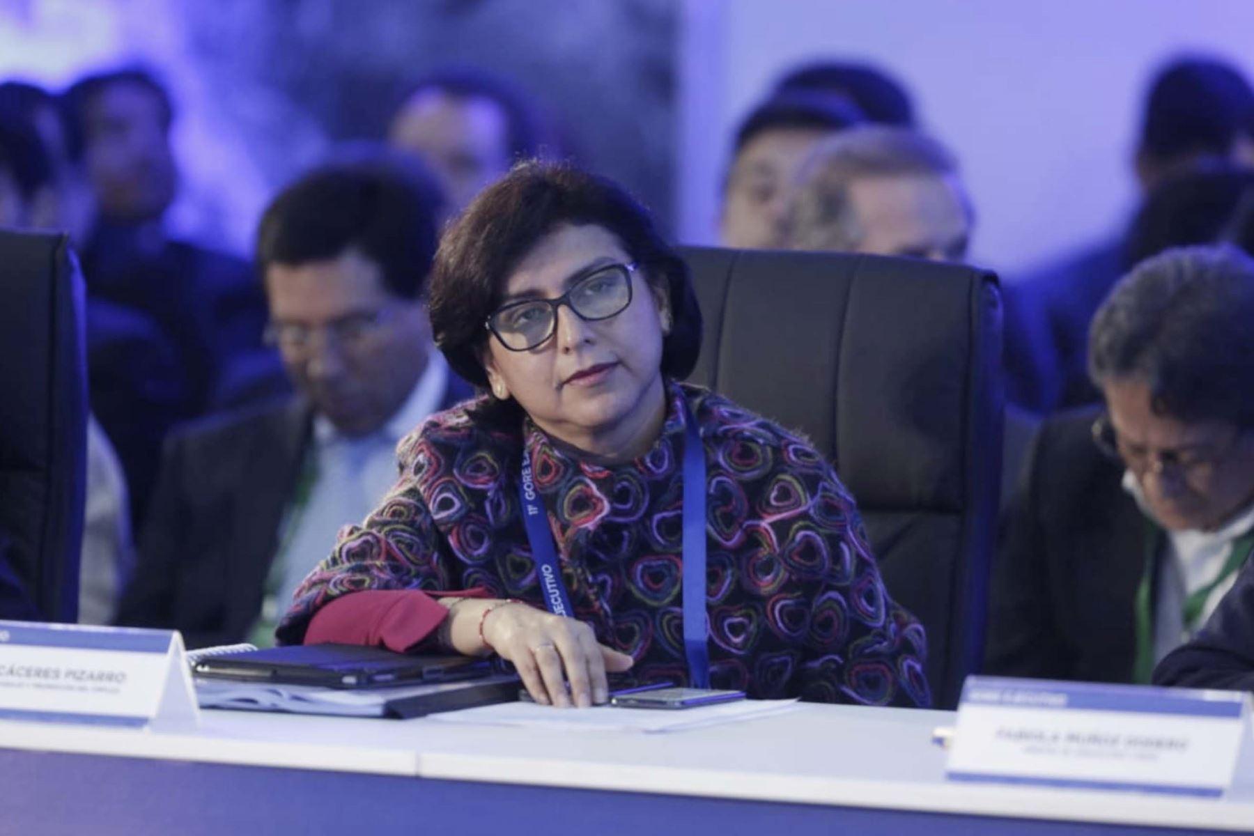 Ministra de Trabajo, Sylvia Cáceres participa  en el 11º Gore Ejecutivo en la Fortaleza Real Felipe del Callao.  Foto:ANDINA/PCM
