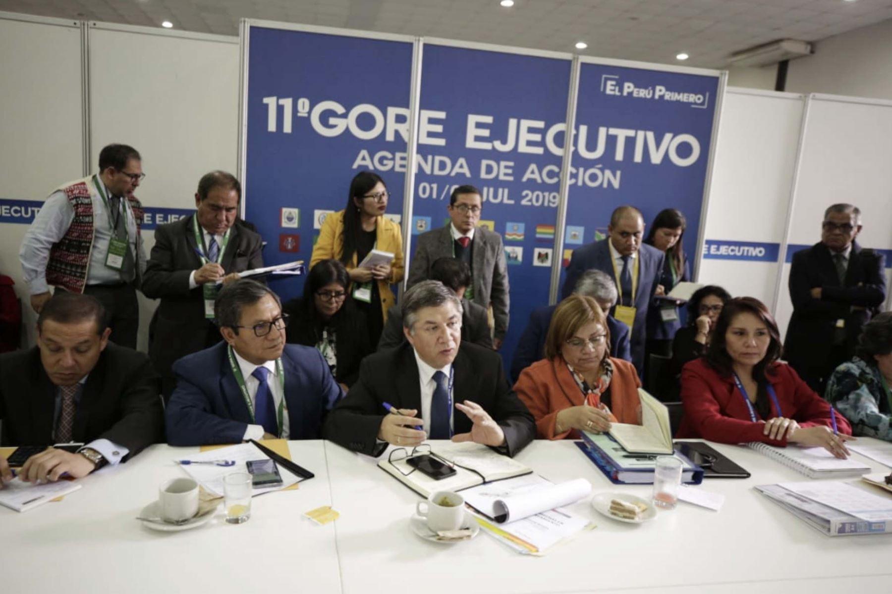Ministros de Estado y Gobernadores regionales se reúnen  en el 11º Gore Ejecutivo en la Fortaleza Real Felipe del Callao.  Foto:ANDINA/PCM