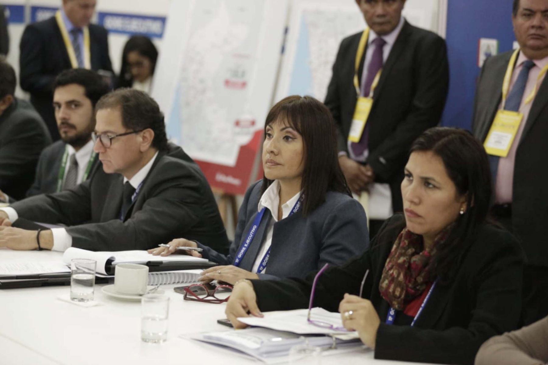 Ministra de Transportes, María Jara participa  en el 11º Gore Ejecutivo en la Fortaleza Real Felipe del Callao.  Foto:ANDINA/PCM