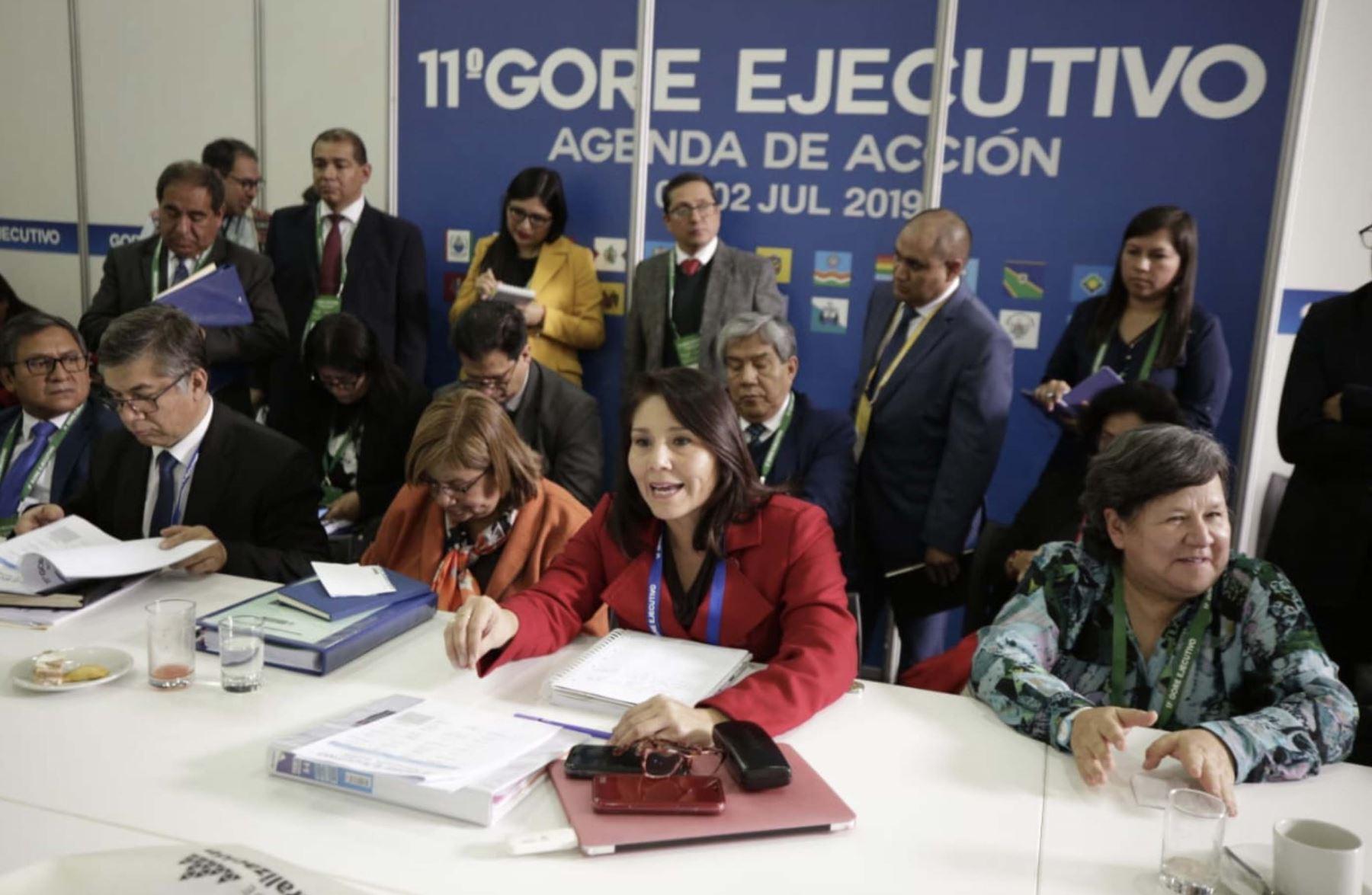 Ministra de Inclusión Social, Paola Bustamante  participa  en el 11º Gore Ejecutivo en la Fortaleza Real Felipe del Callao.  Foto:ANDINA/PCM