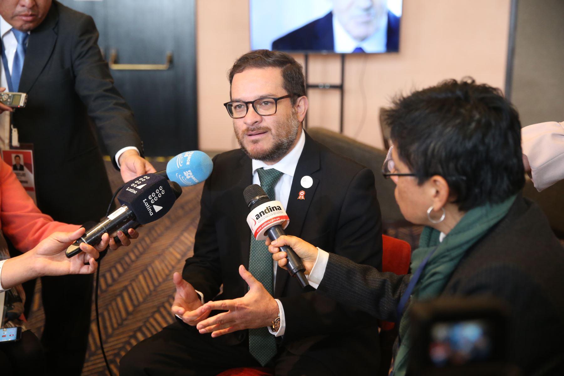 Ministro de Comercio Exterior y Turismo, Edgar Vásquez Vela. Foto: ANDINA/Jhony Laurente.