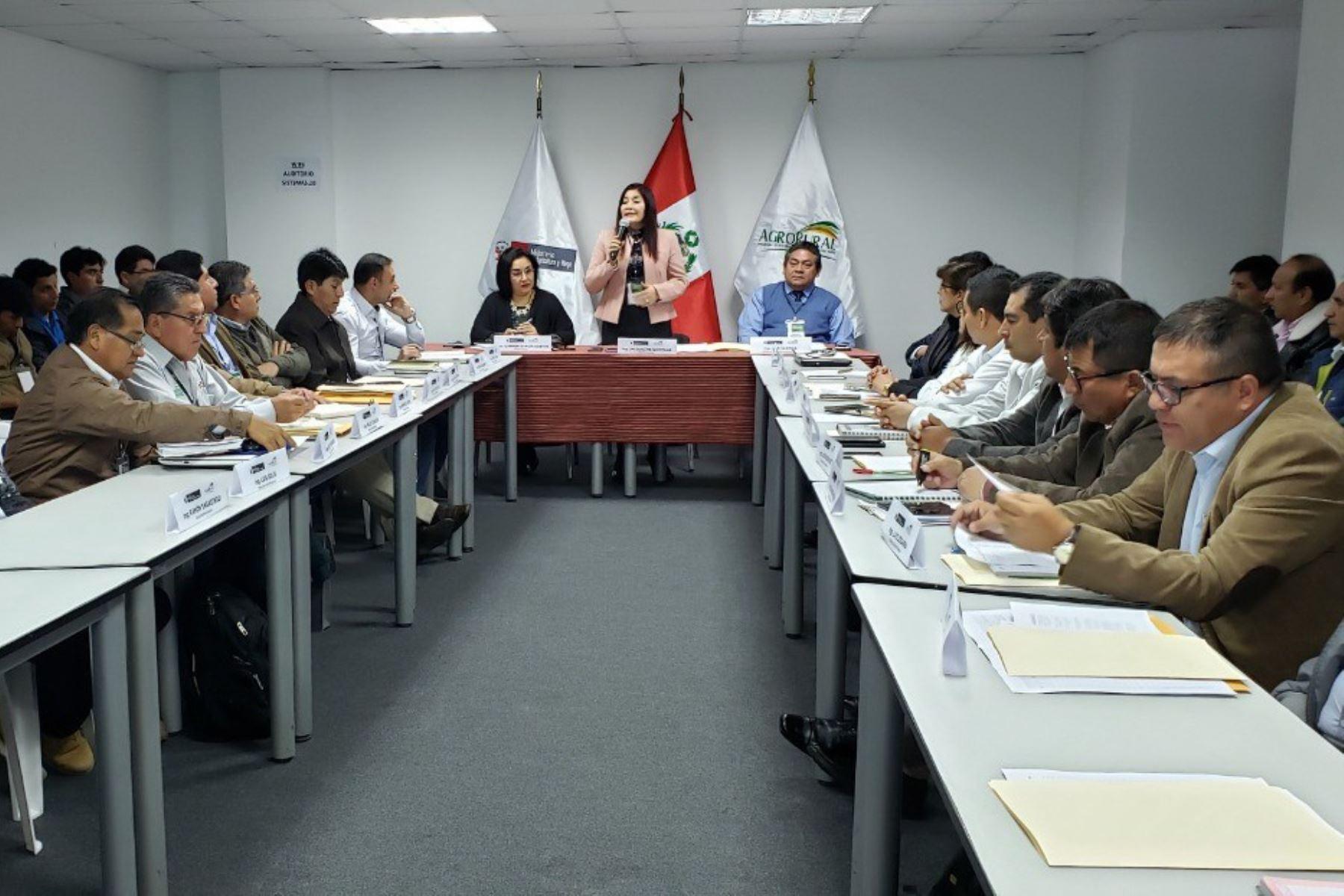 Primer Encuentro de Directores Zonales y Especialistas en Infraestructura de Riego, organizada por Agro Rural.