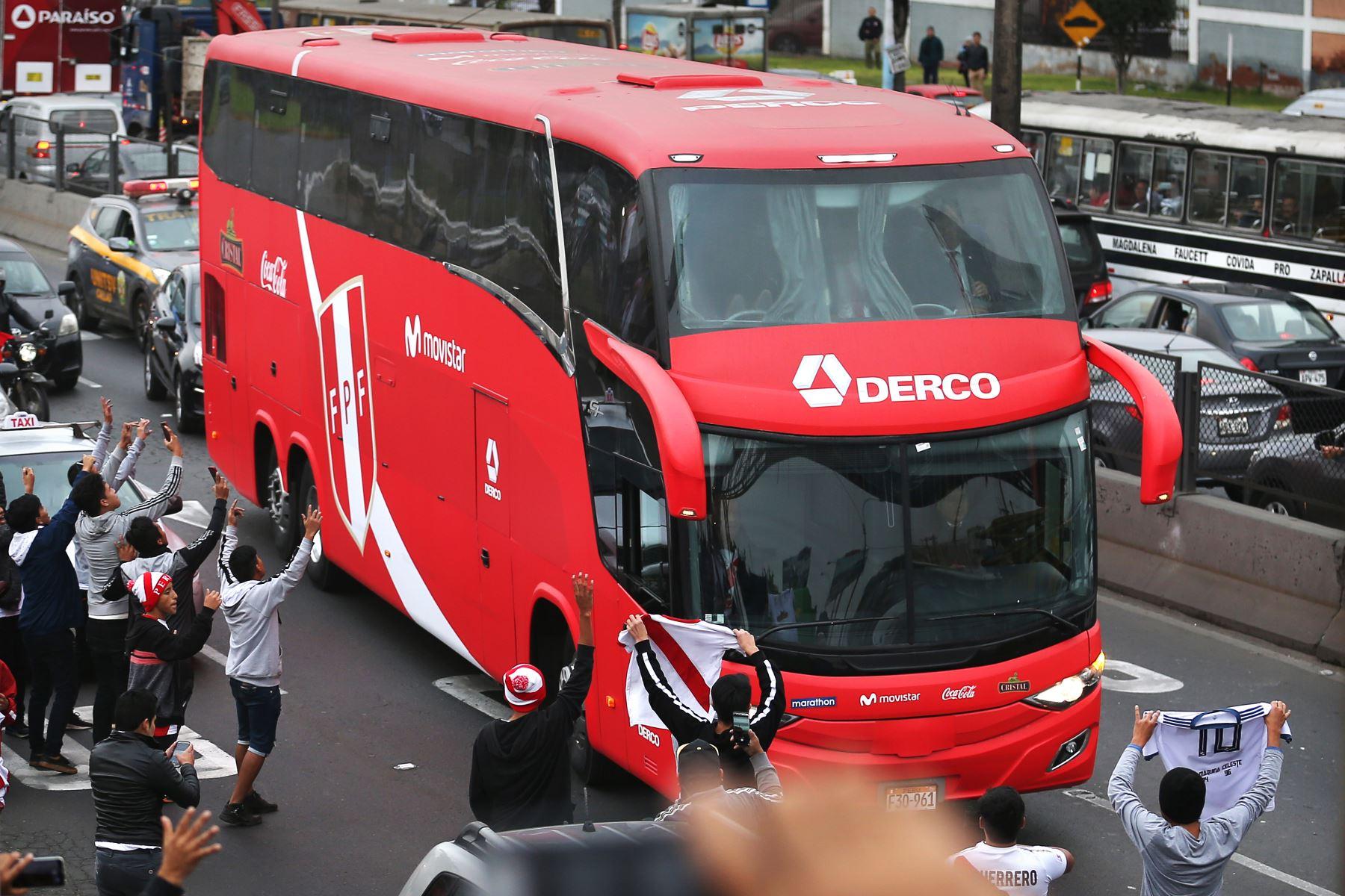 Llegada de la selección peruana a Lima. Foto: AFP