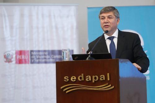 Ministro de Vivienda, Construcción y Saneamiento, Miguel Estrada. Foto: Cortesía