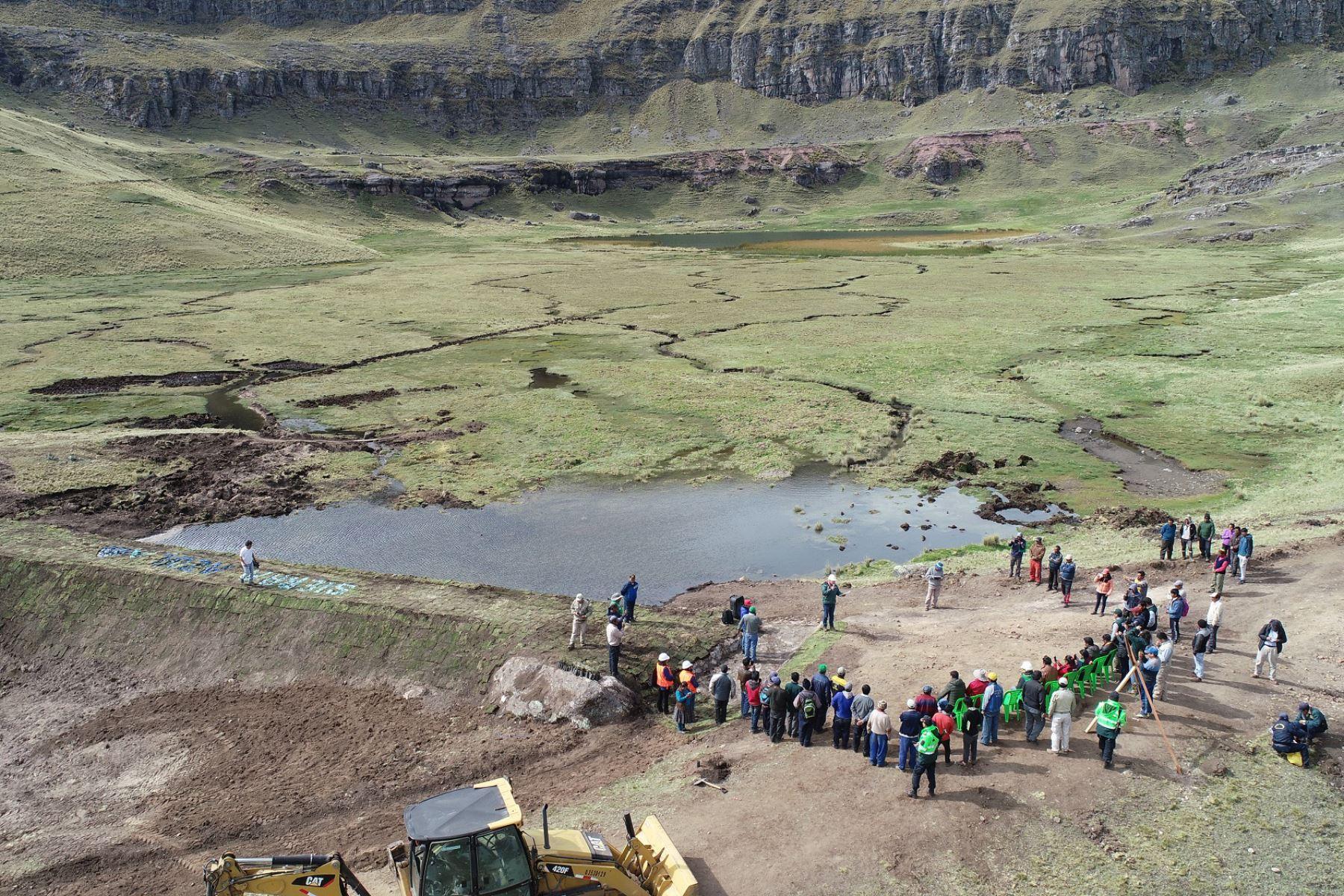 Minagri inicia la segunda etapa de obras de siembra y cosecha de agua en región Áncash.Foto:  ANDINA/Difusión