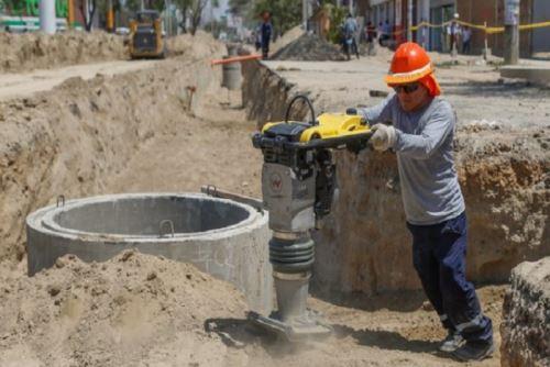 Las obras de agua y saneamiento son fundamentales para elevar la calidad de vida de las personas. ANDINA/Difusión