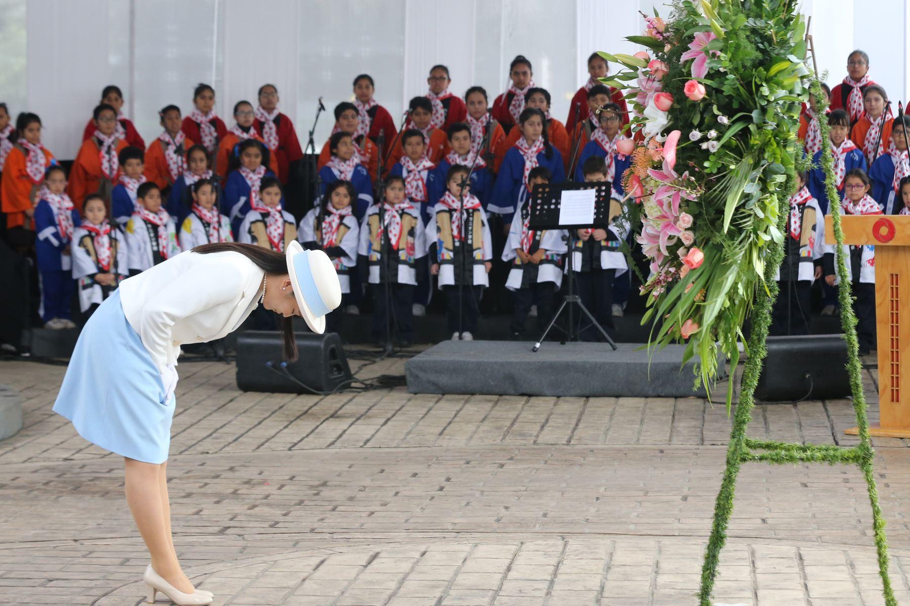 La Princesa Mako, participa de la conmemoración de los 120 Años de la Inmigración Japonesa al Perú. Foto: ANDINA/ Norman Córdova
