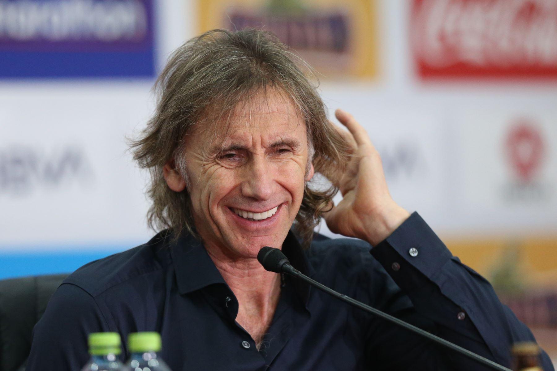 Conferencia de prensa del entrenador Ricardo Gareca sobre la participación de Perú en la Copa América. Foto: ANDINA/Norman Córdova
