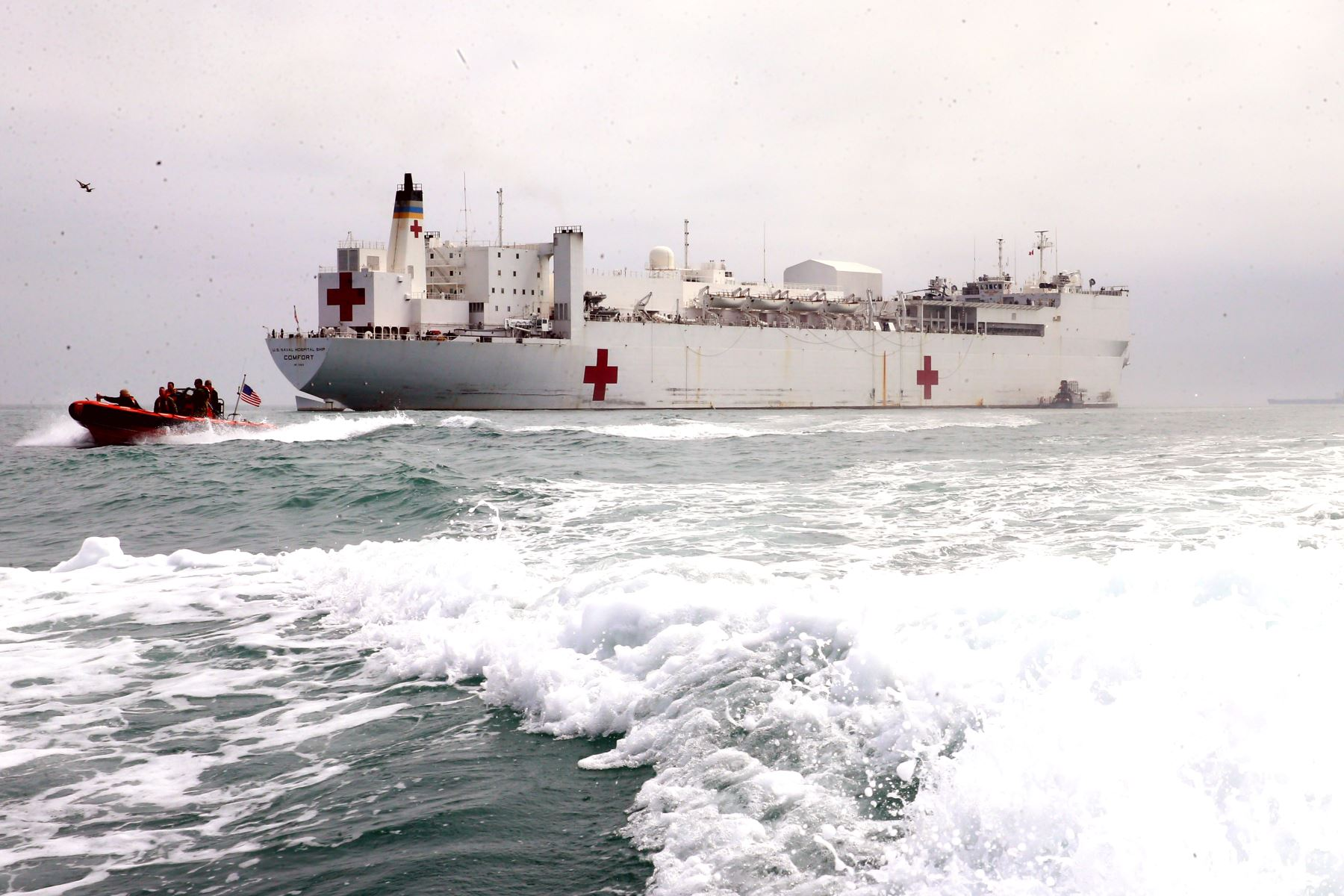 Médicos de la Armada de los EEUU, llegan al Puerto del Callao para brindar ayuda en temas de salud para los menos favorecidos. Foto: ANDINA/Vidal Tarqui