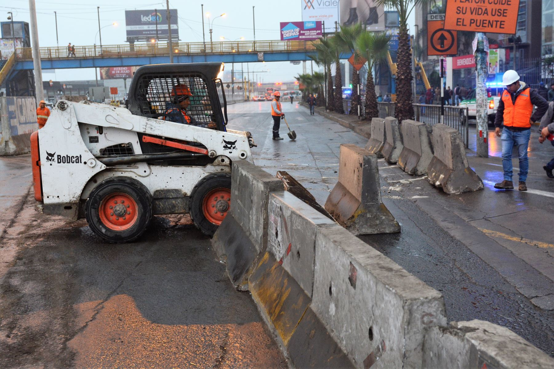 Construcción de Línea 2 del Metro de Lima. Foto: ANDINA/Difusión