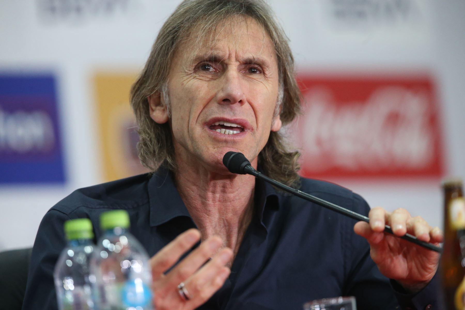 Conferencia de prensa del entrenador Ricardo Gareca sobre la participación de Perú en la Copa AméricaFoto: ANDINA/Norman Córdova