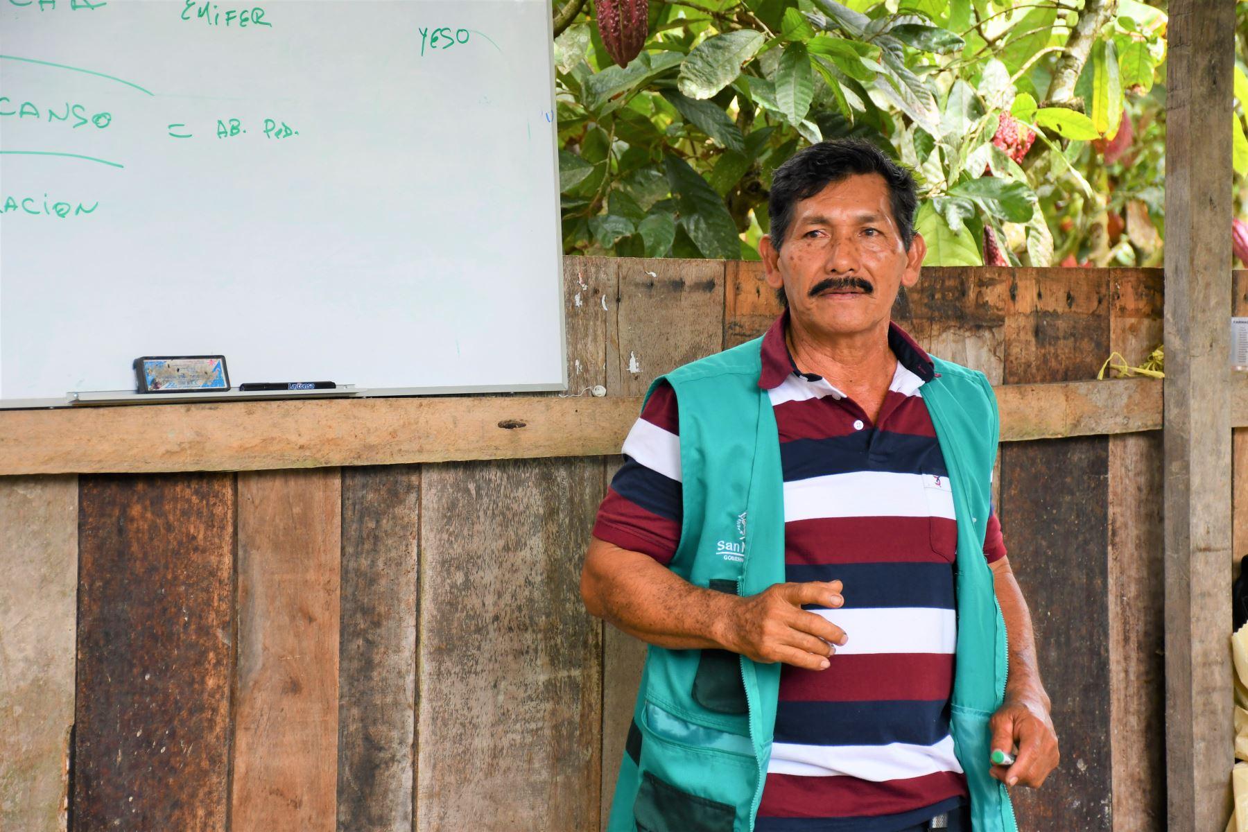 Conoce a Edil Sandoval, el productor de cacao más competitivo de San Martín. ANDINA/Difusión