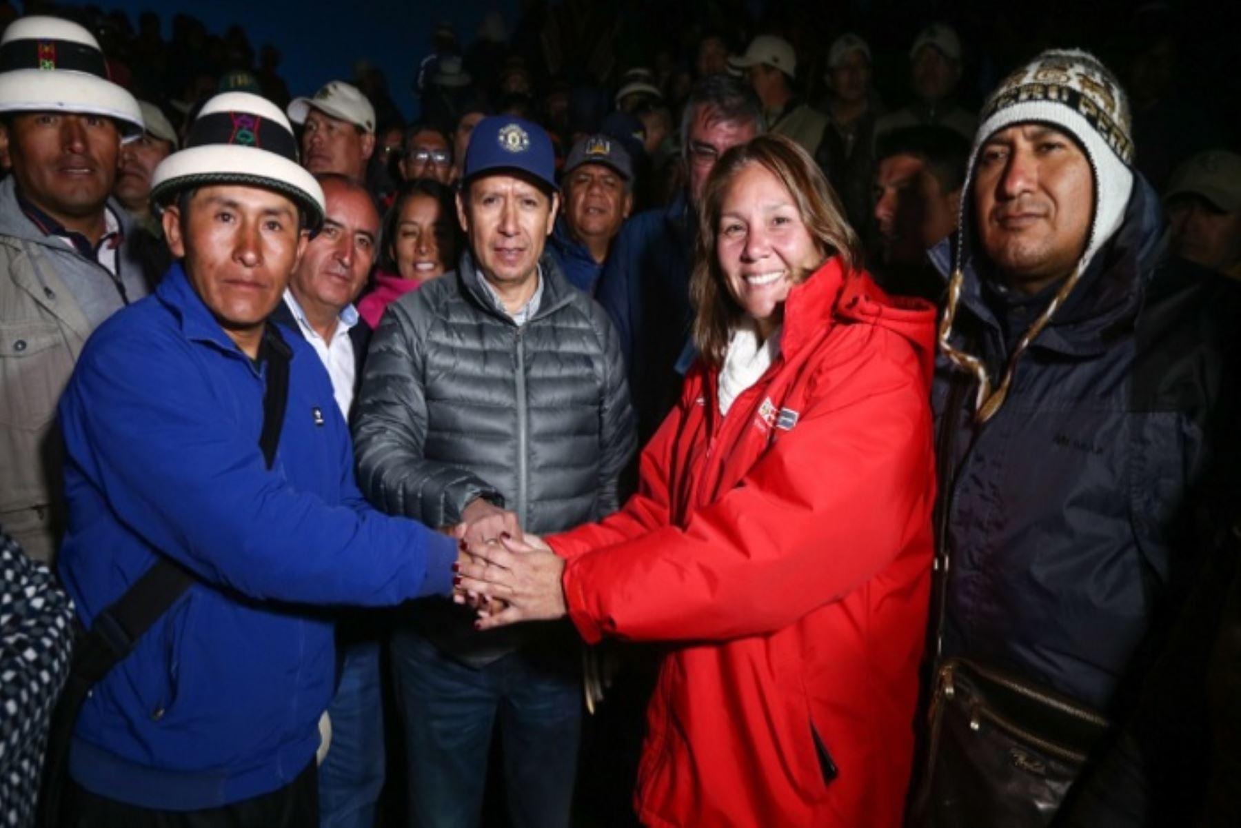La ministra de Desarrollo e Inclusión Social, Paola Bustamante, destacó los procesos de diálogo en el tema Las Bambas, en la región Apurímac, que involucran a las poblaciones que rodean al corredor minero del sur, los cuales vienen obteniendo resultados positivos.