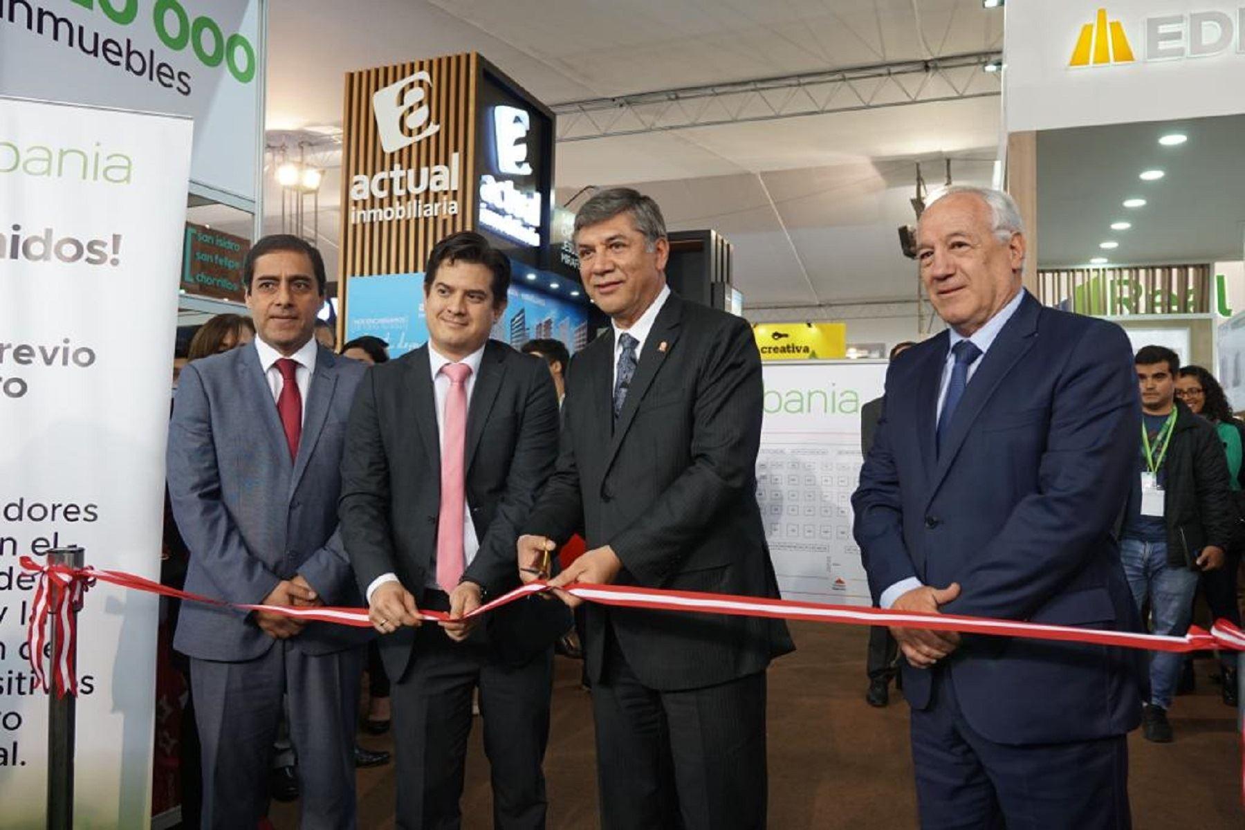 Ministro de Vivienda inauguró la ExpoUrbania que cuenta con una oferta de 20 mil inmuebles Foto: Difusión