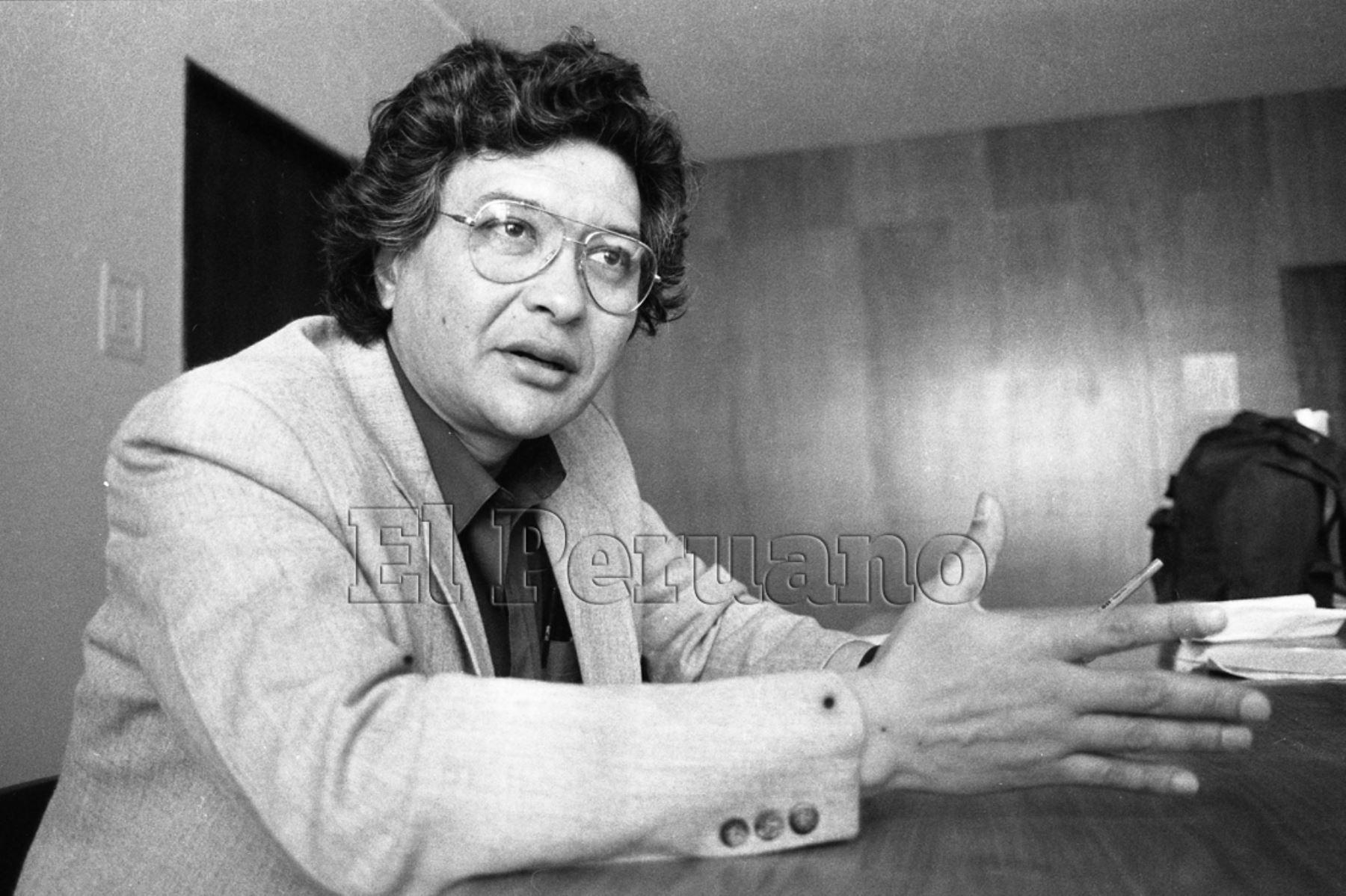 Lima - 30 setiembre 1992 / Poeta José Watanabe