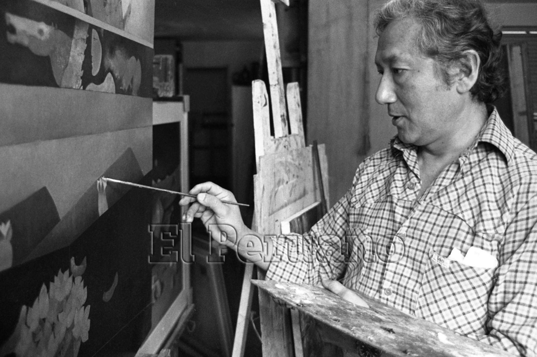 Lima - 31 octubre 1987 / Pintor peruano Venancio Shinki.