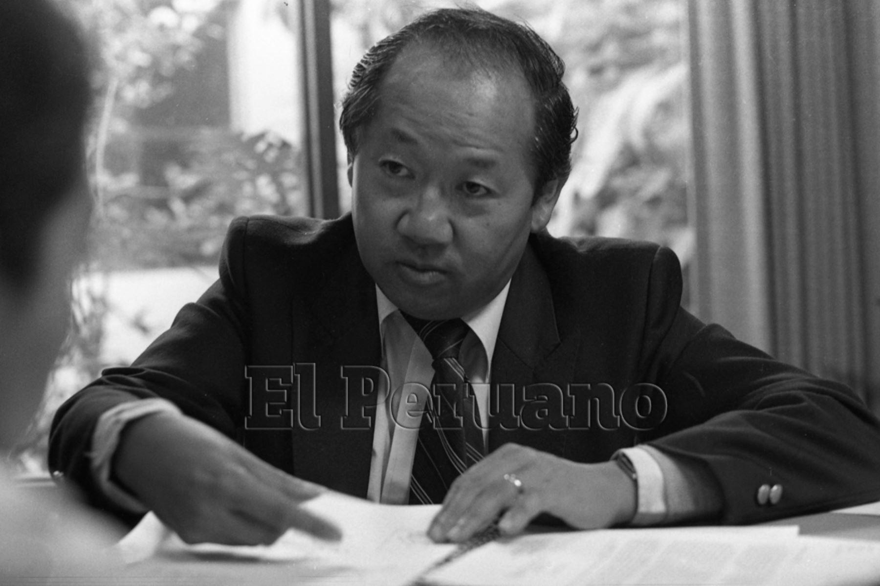 Callao - 31 mayo 1984 / Entrevista al ingeniero Julio Kuroiwa, experto en prevención de desastres.