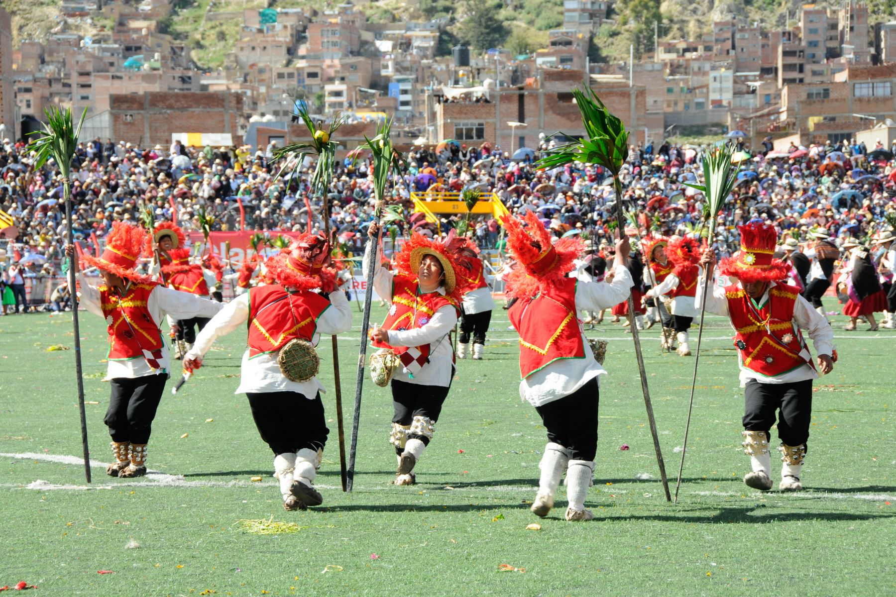 El Ministerio de Cultura reconoció a la danza Chunchos de Esquilaya de Puno como Patrimonio Cultural de la Nación. ANDINA/Difusión