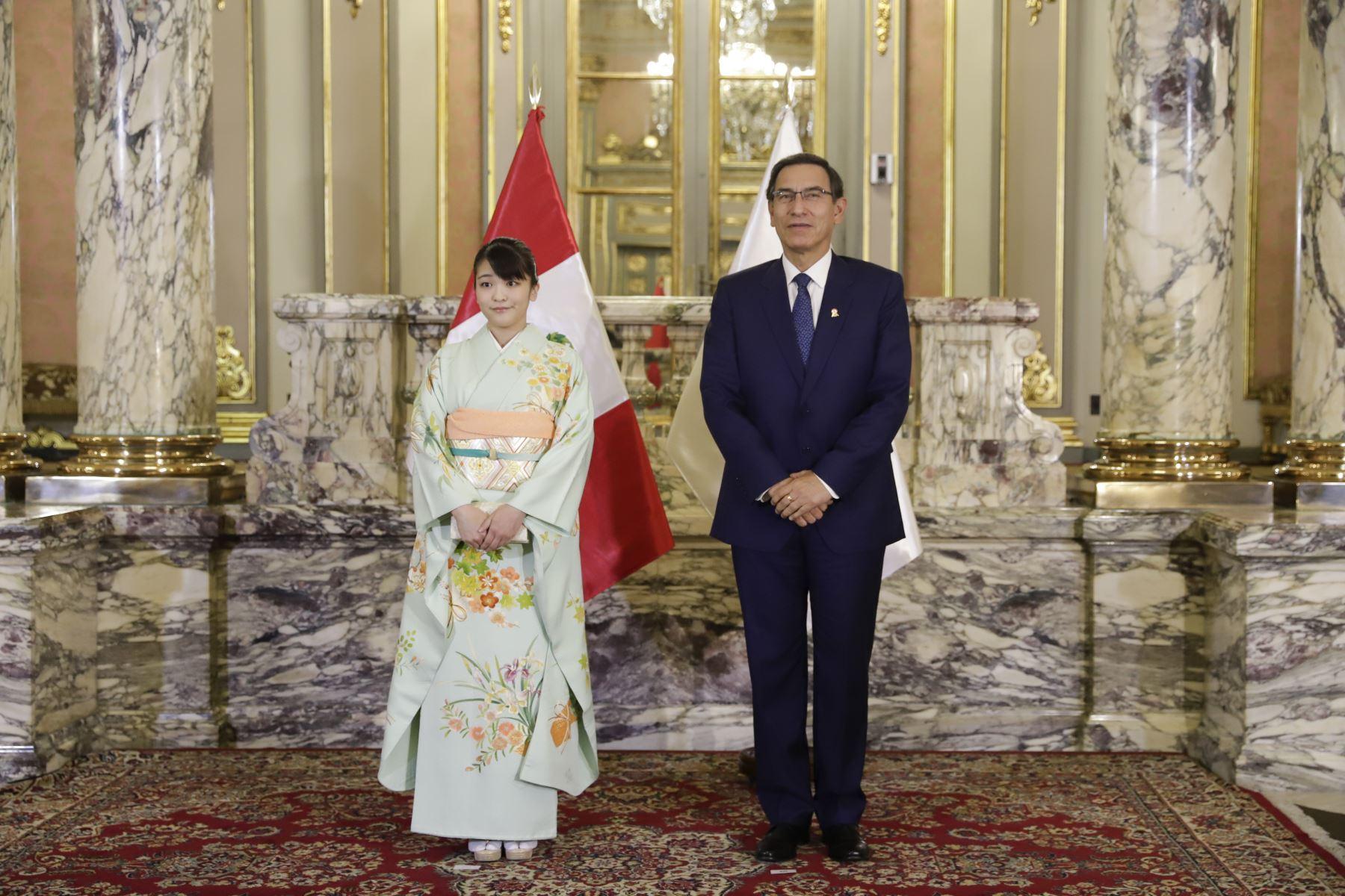 Presidente Vizcarra se reúne con princesa Mako de Japón. Foto: ANDINA/ Prensa Presidencia