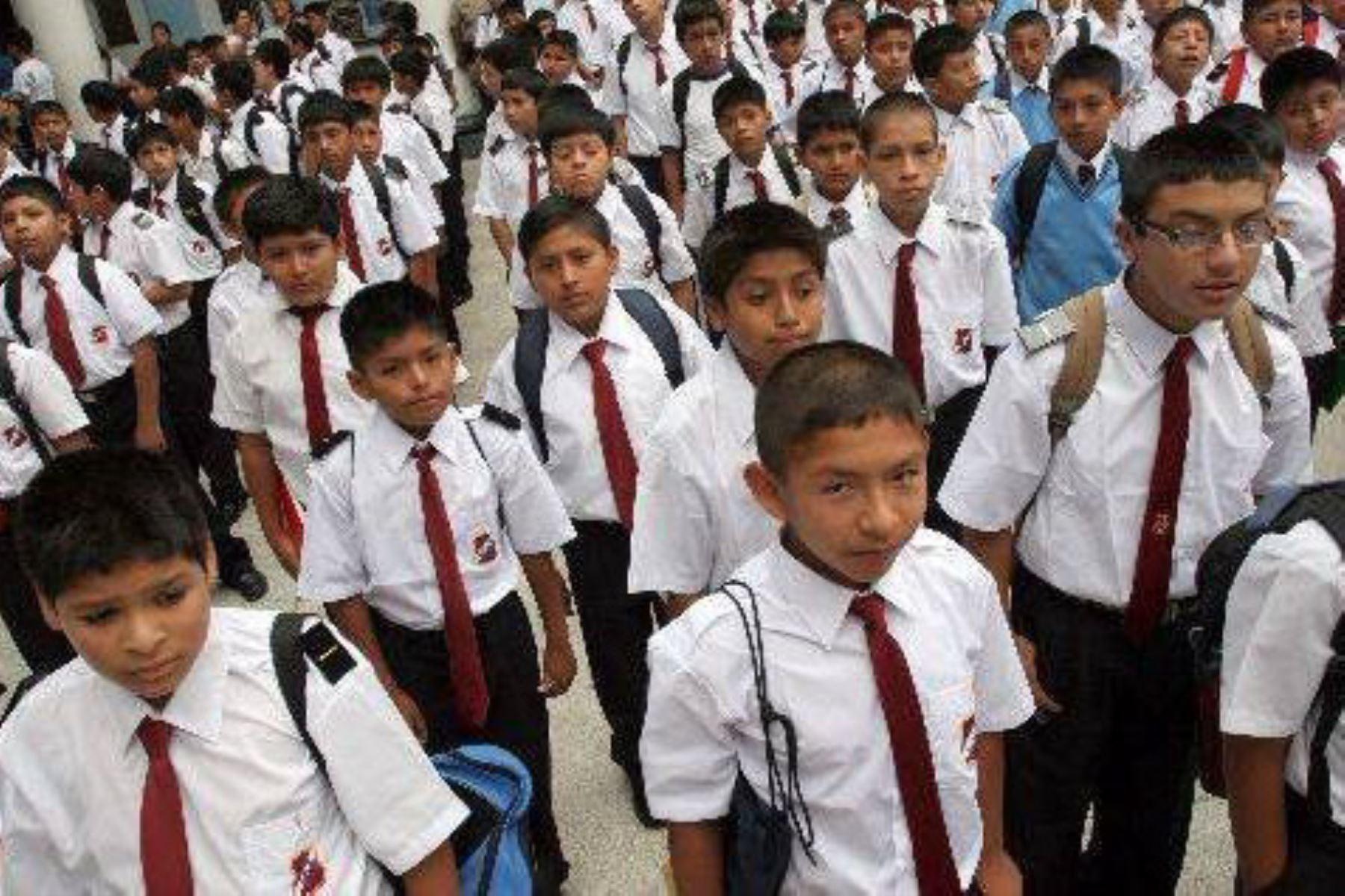 Cerca de 12,000 escolares de la provincia de Islay, en Arequipa, se verían perjudicados con el anunciado paro. ANDINA/archivo