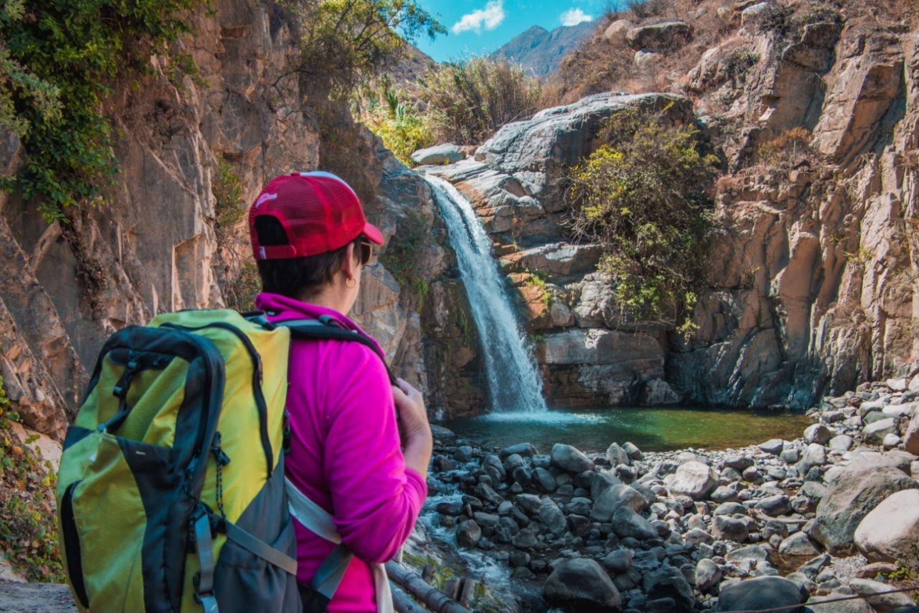 Cataratas de Hornillos: la nueva ruta turística de la provincia del Santa que promocionan en Chimbote, región Áncash. ANDINA/Difusión