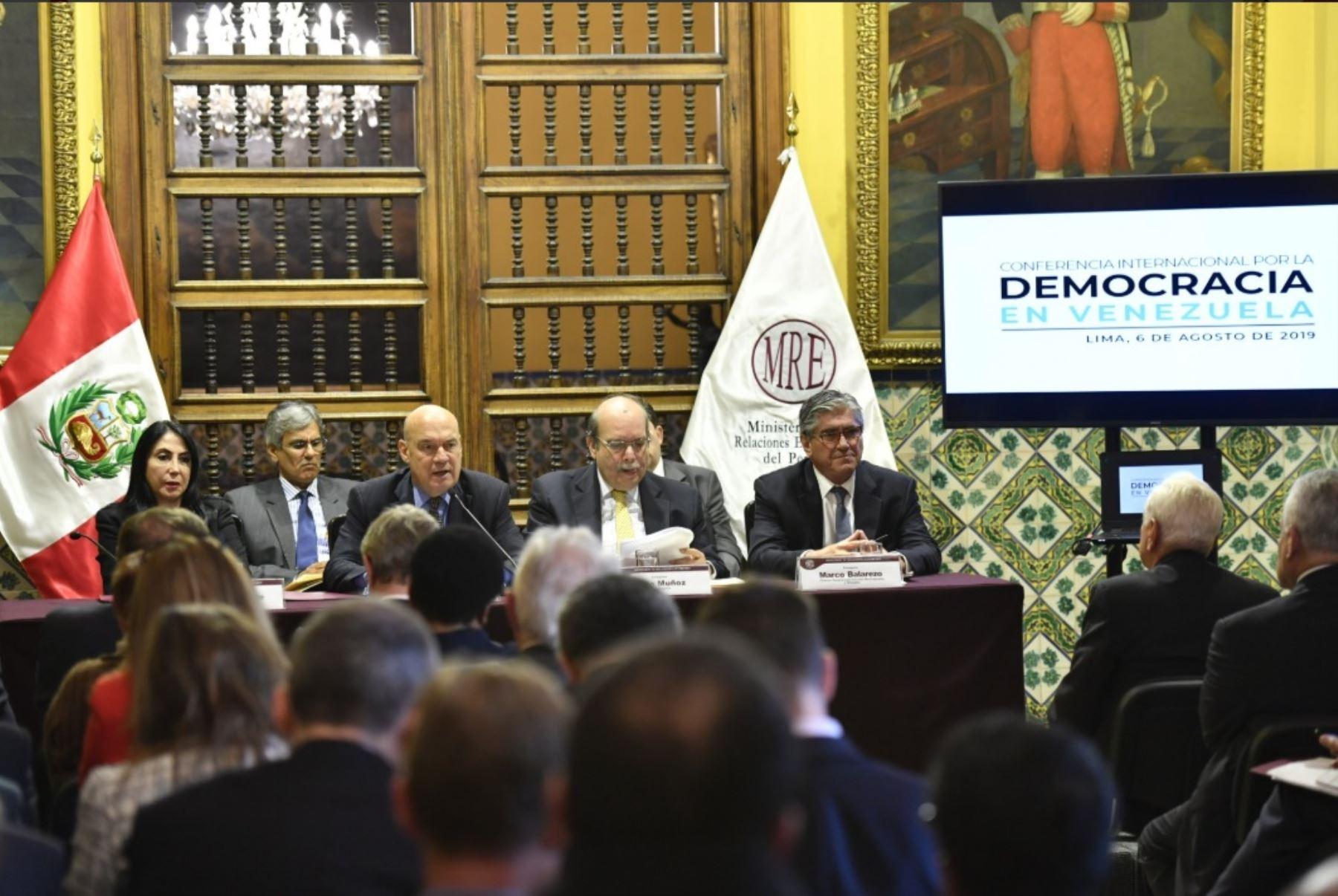 Cancillería peruana convocó a cancilleres de los países de los cinco continentes para Conferencia Internacional por Venezuela.