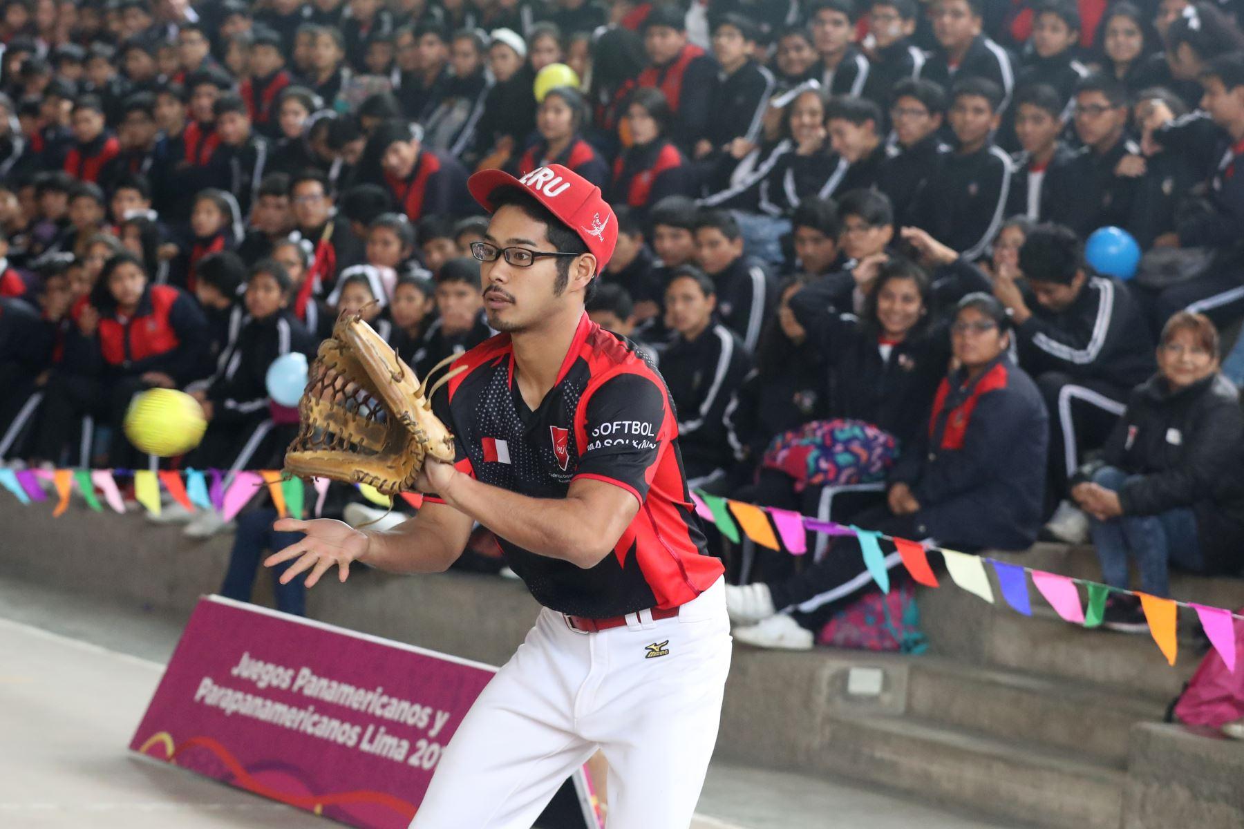 """Deportistas panamericanos participan en la clausura de campaña """"Yo soy Lima 2019"""". Foto: ANDINA/Melina Mejía"""