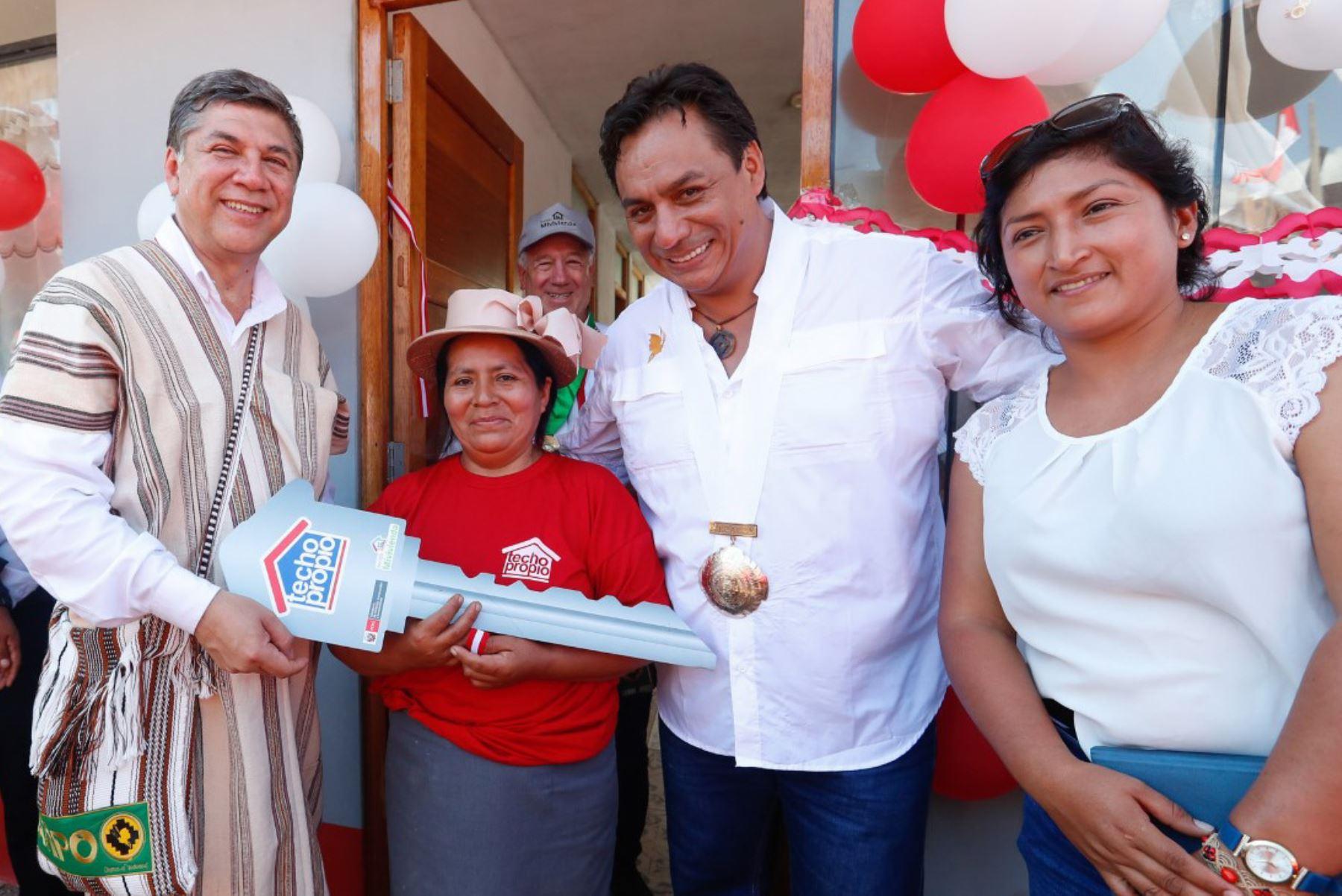 Techo Propio entregará viviendas a pobladores del distrito de Chao, en La Libertad. ANDINA/Difusión