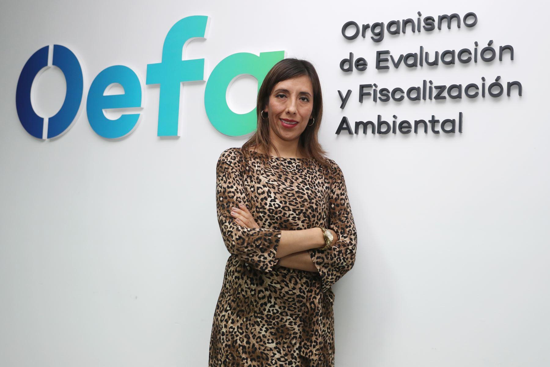 Gerente general de OEFA, Miriam Alegría Rojas, asegura que el equipo de fiscalizadores de la institución es de primera. ANDINA/Melina Mejía
