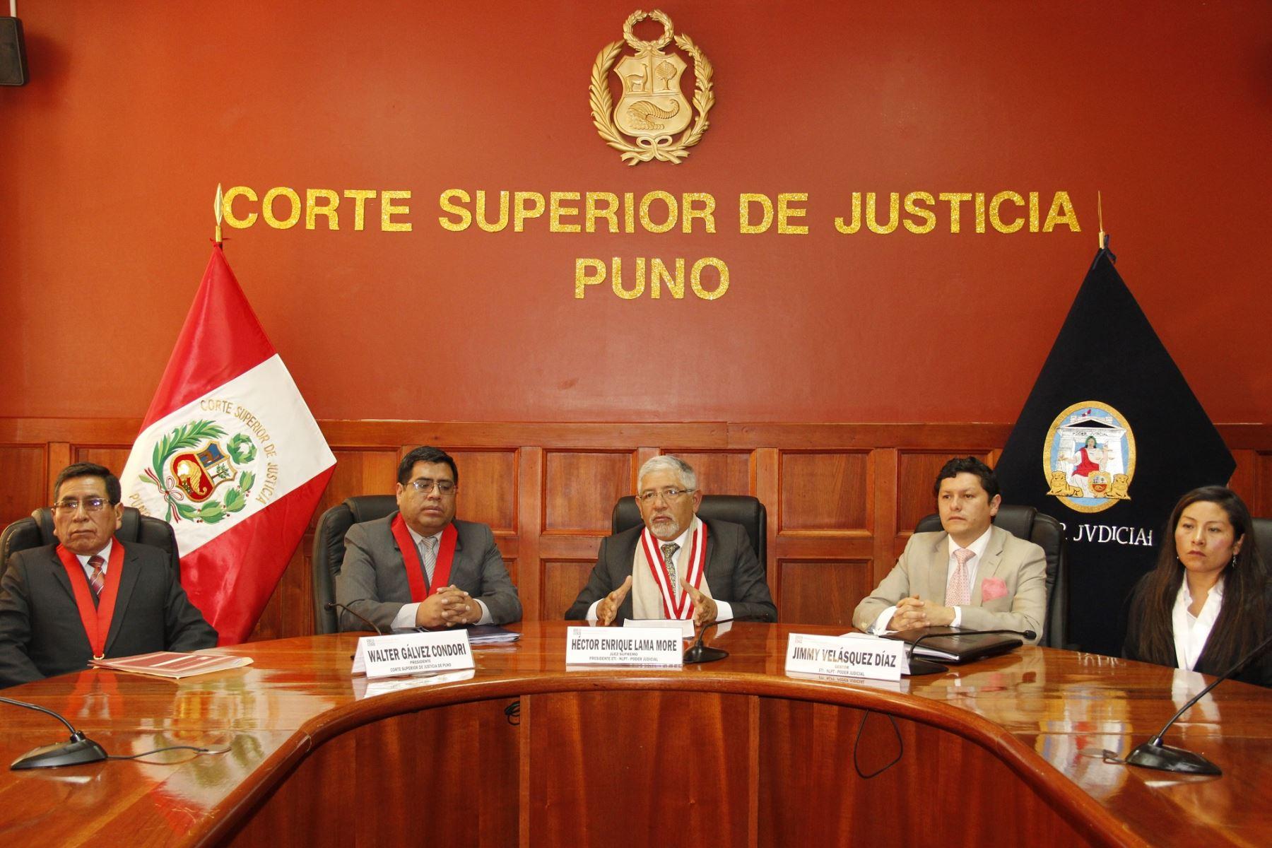 ANDINACorte Superior de Justicia de Puno implementa la nueva Ley Procesal de Trabajo. ANDINA
