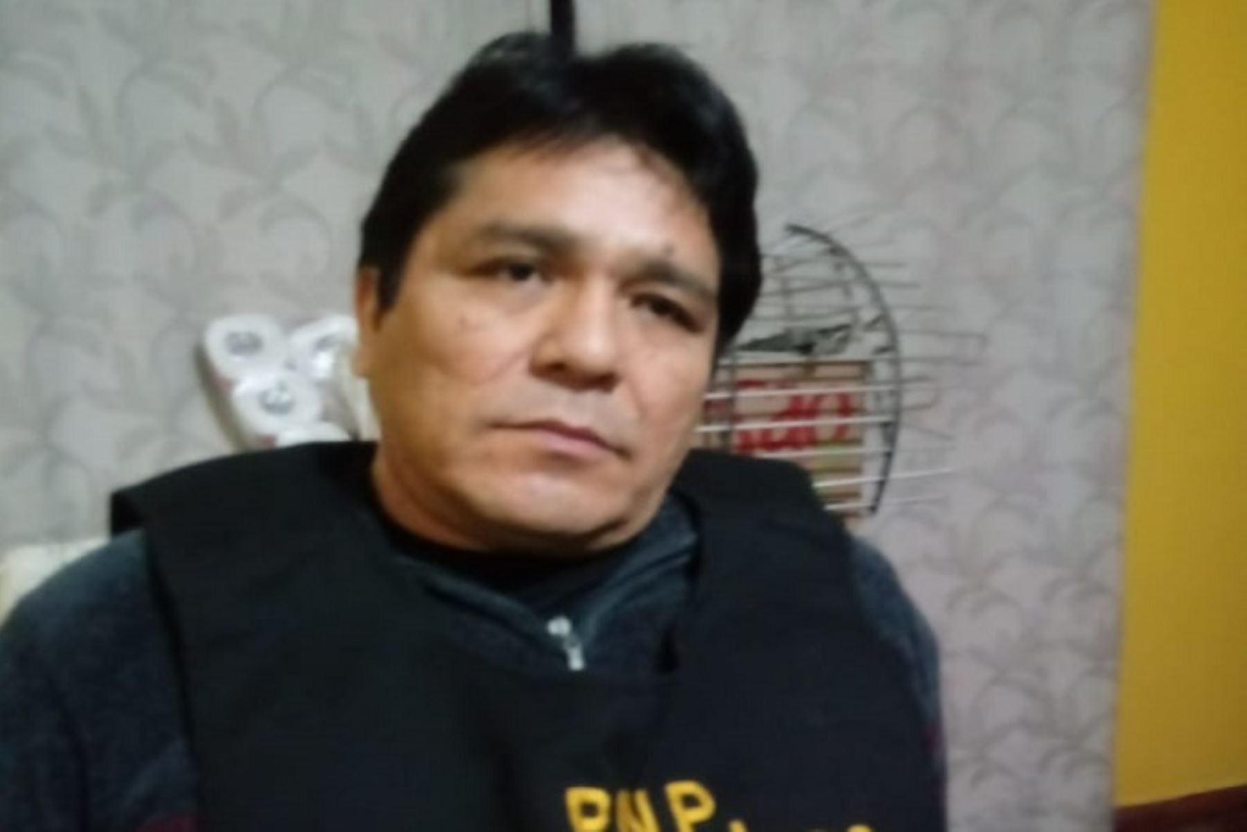 Rubén William Moreno Olivo, conocido como Goro, capturado hoy por la Policía.