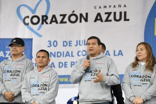 """Ministro del Interior participa en campaña  """"Lima Corre 5K contra la Trata de personas"""""""