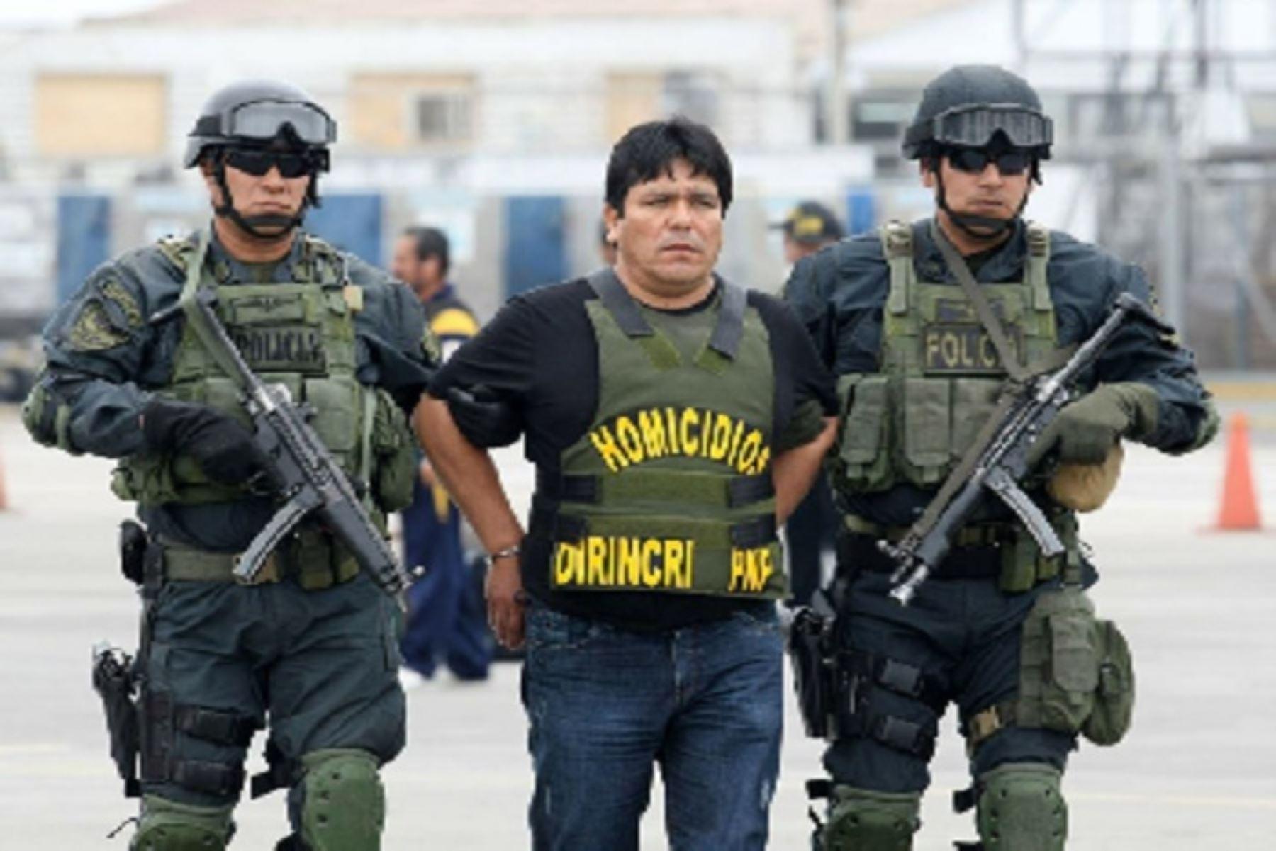 Recapturado sicario Goro. Foto: ANDINA/Difusión
