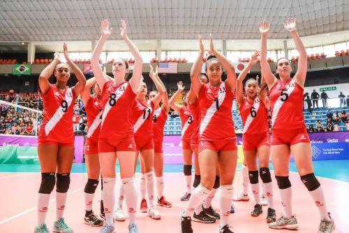 La selección nacional Sub-20 de vóleibol jugará esta noche ante Cuba Foto: FPV
