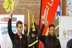 Joao Velásquez y Daniel Fernández seleccionados de pelota vasca.ANDINA/Lima 2019