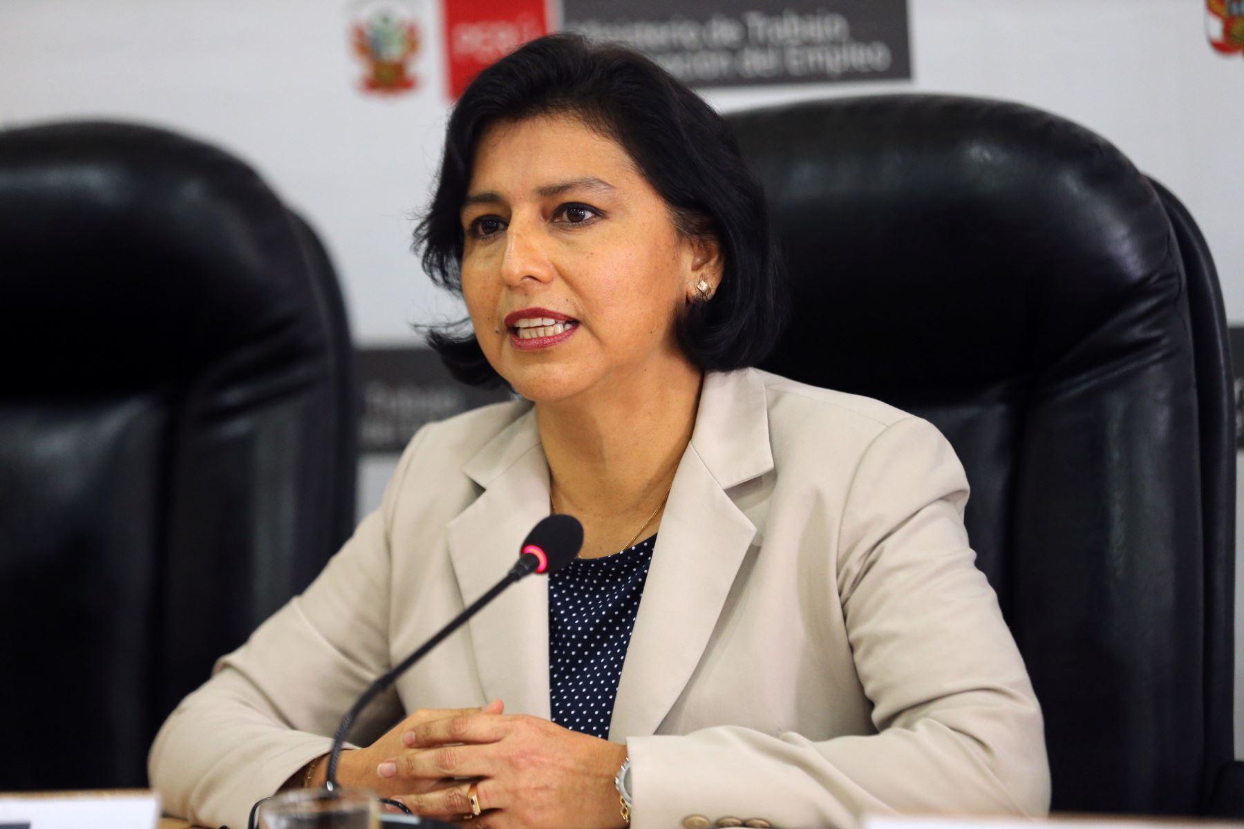Ministra de Trabajo y Promoción del Empleo, Sylvia Cáceres. ANDINA/Norman Córdova