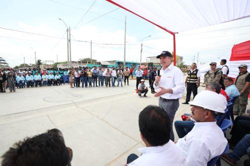 Jefe del Gabinete, Del Solar, visita Tumbes para  inaugurar obras y verificar avances en la reconstrucción