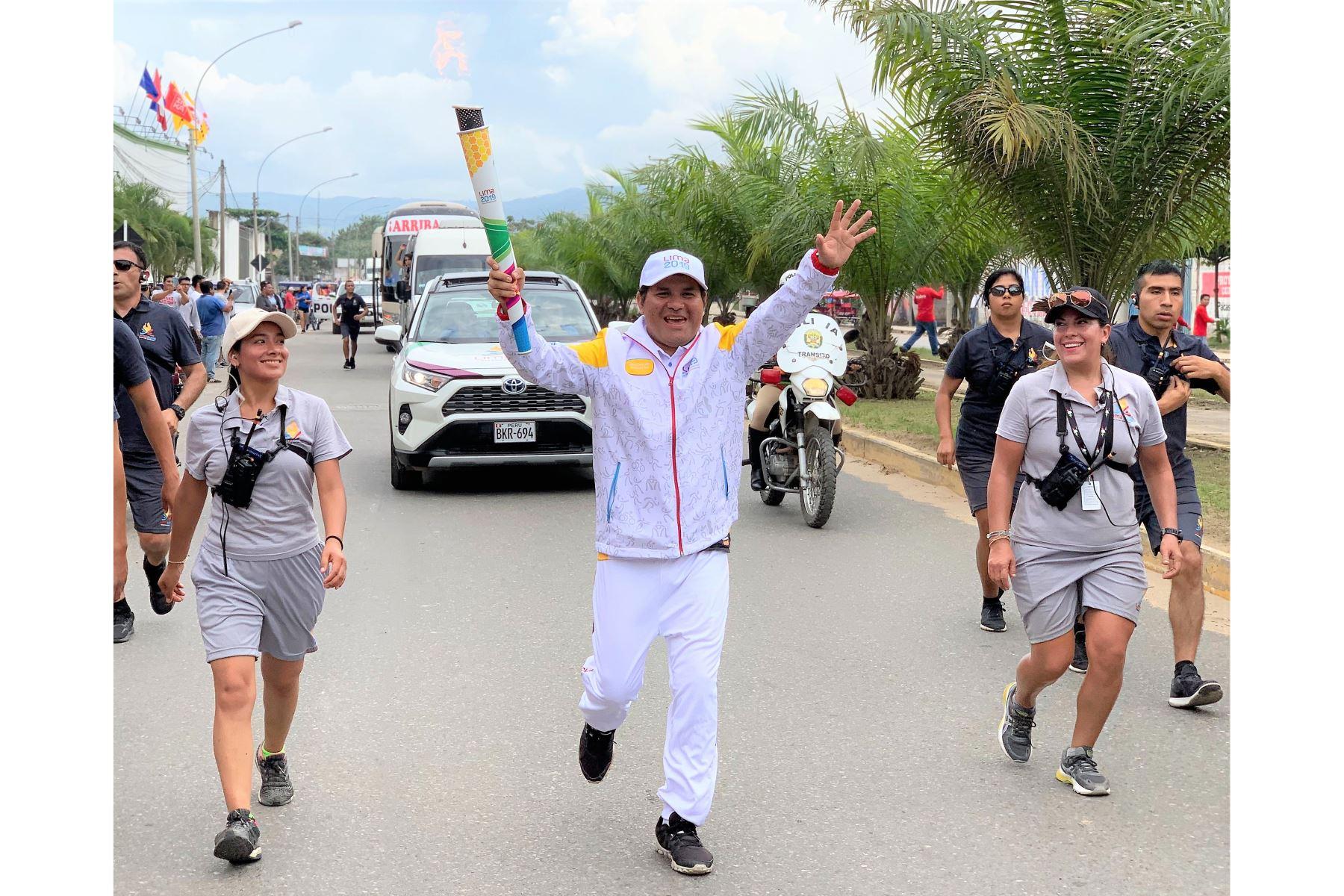 La Antorcha Panamericana llegó a Tarapoto - San Martín. Foto. Lima 2019