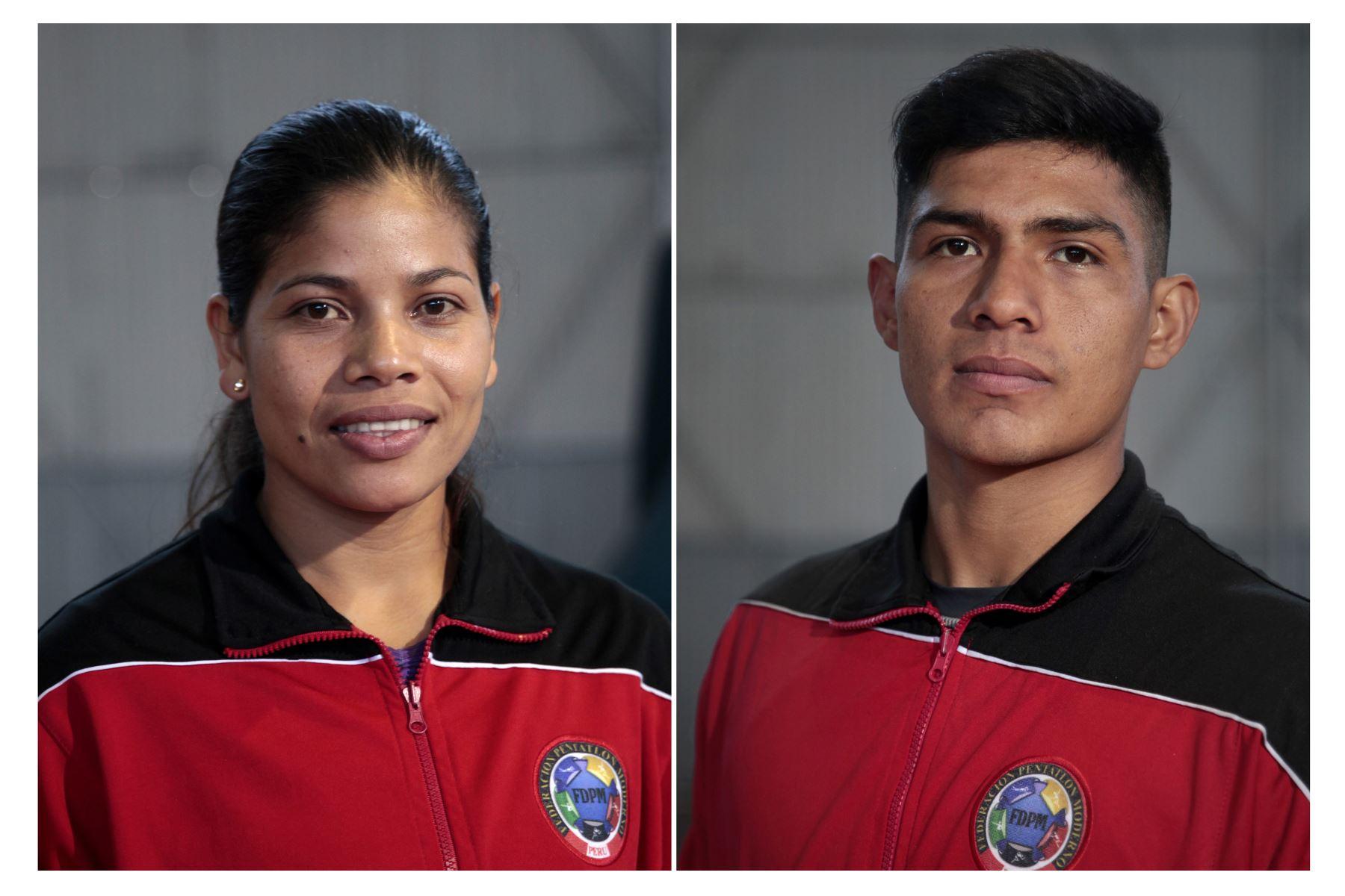 Deportistas militares clasificados a los Juegos Panamericanos Lima 2019. Juan Condori Montero y Jane Vanessa Colins Pereira. Foto: ANDINA/Miguel Mejía Castro